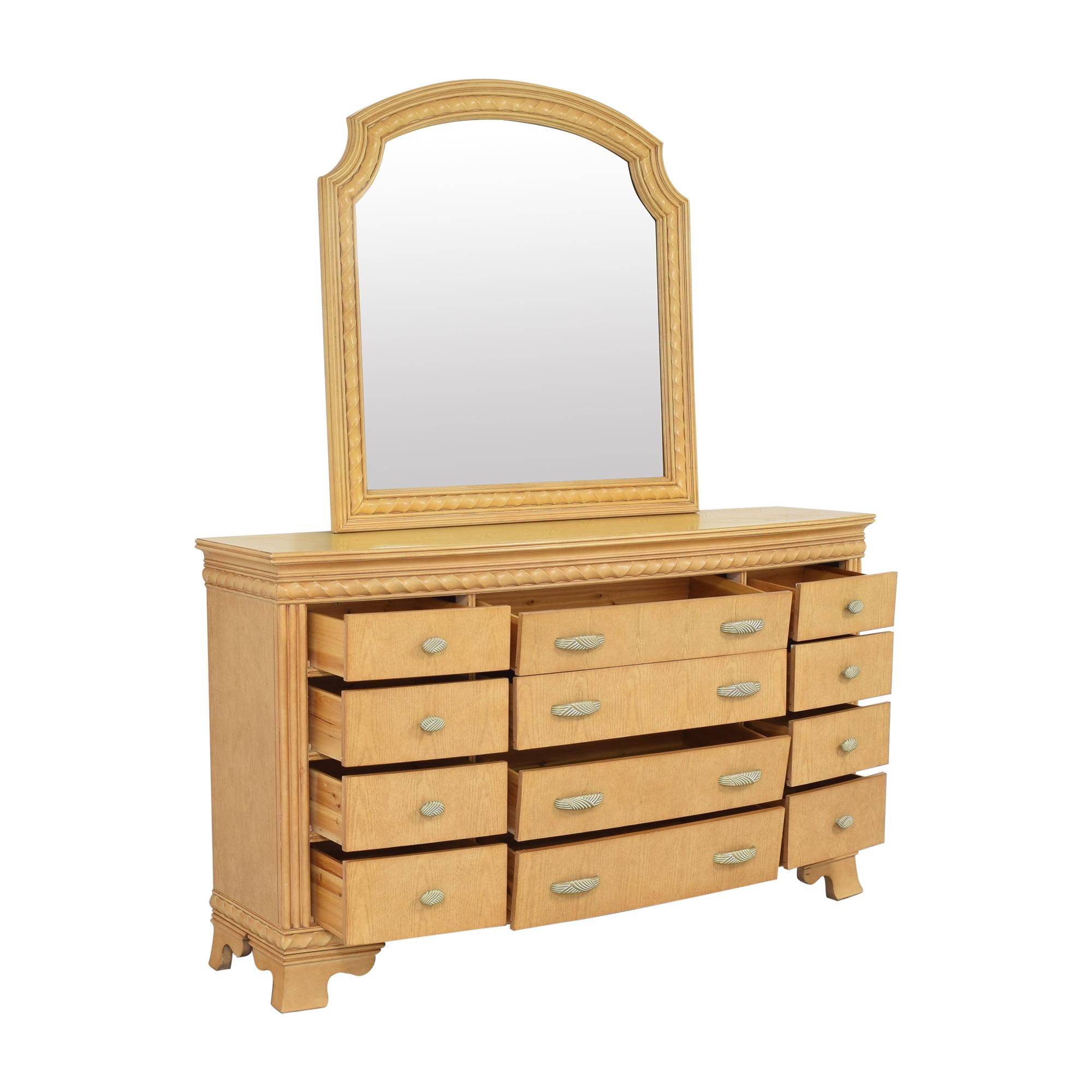 buy Raymour & Flanigan Triple Dresser with Mirror Raymour & Flanigan Dressers
