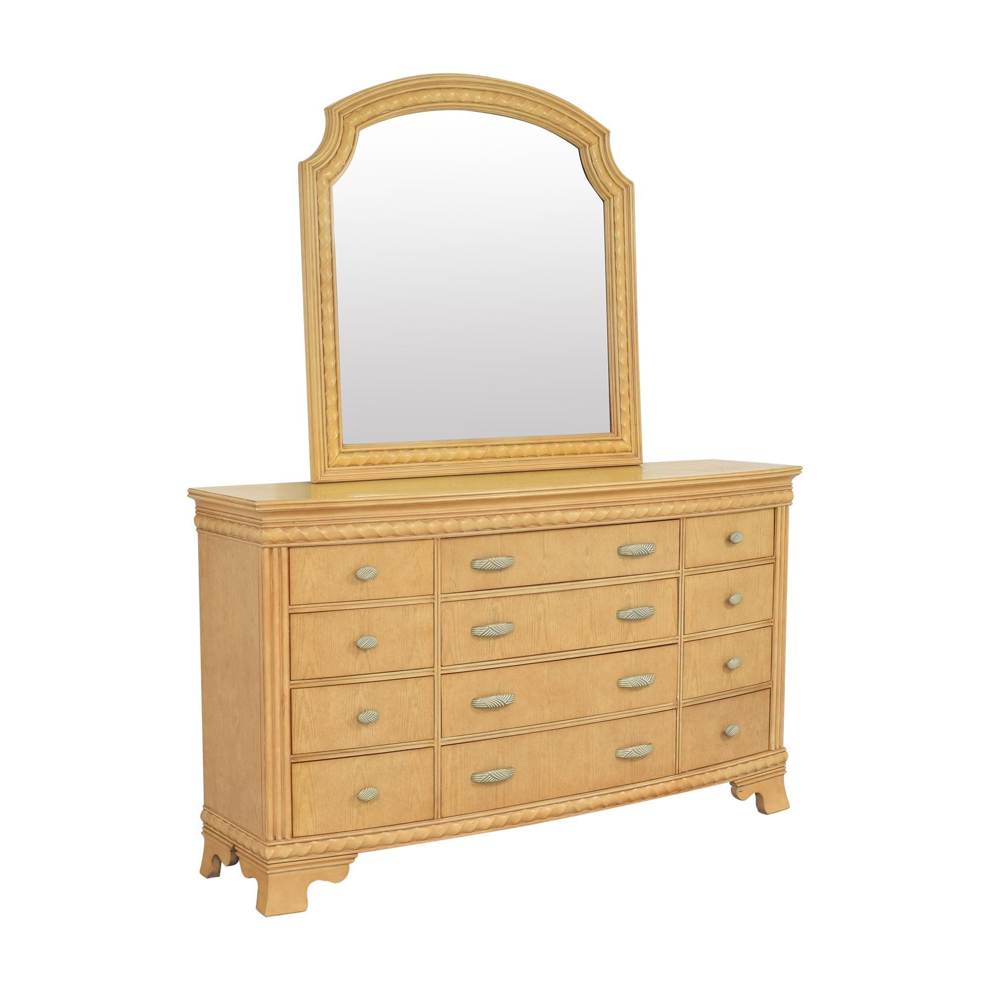 Raymour & Flanigan Raymour & Flanigan Triple Dresser with Mirror dimensions