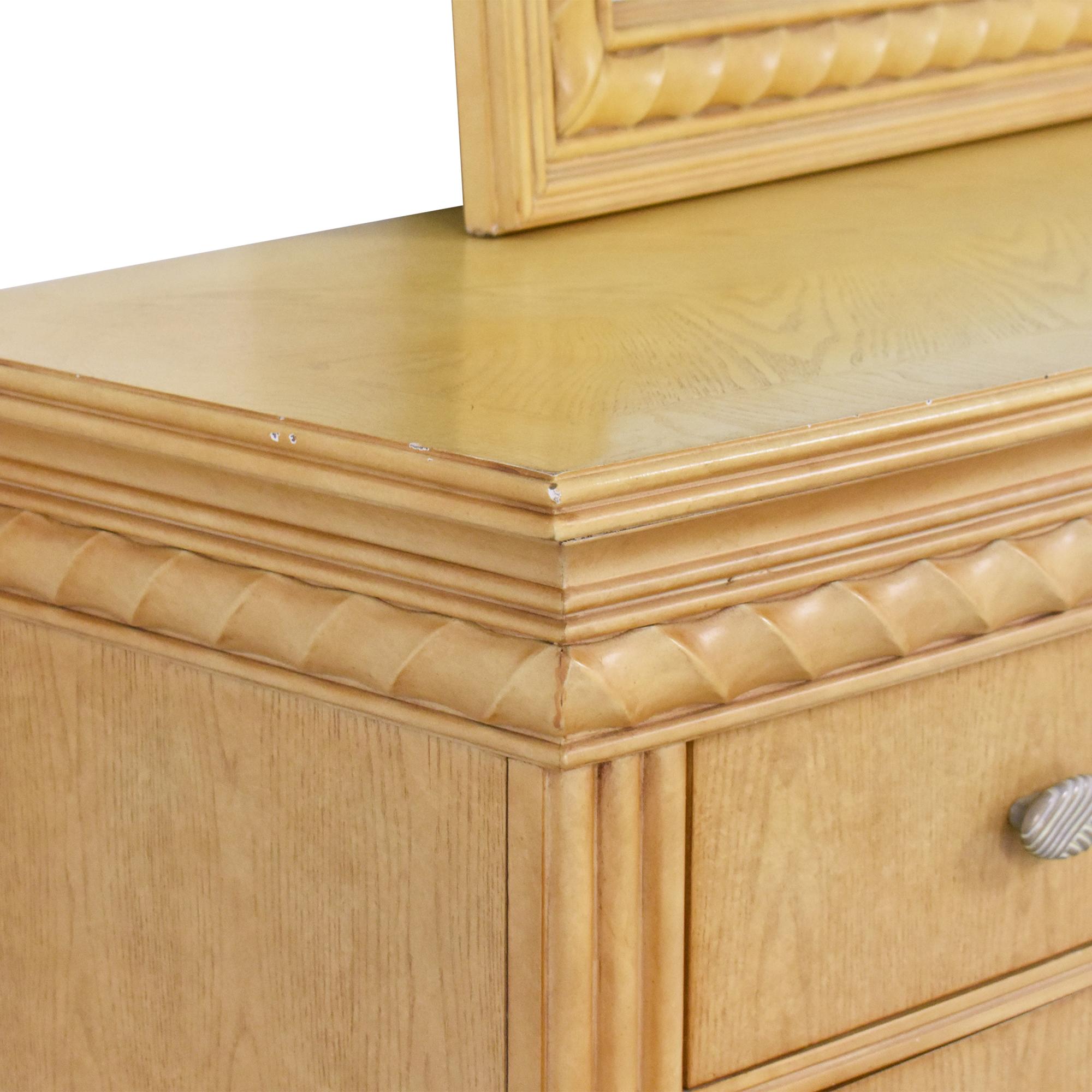 Raymour & Flanigan Triple Dresser with Mirror / Storage