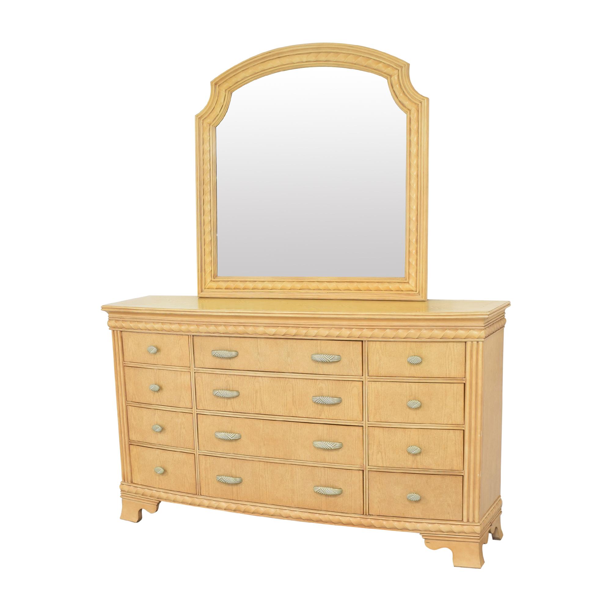 shop Raymour & Flanigan Triple Dresser with Mirror Raymour & Flanigan Storage