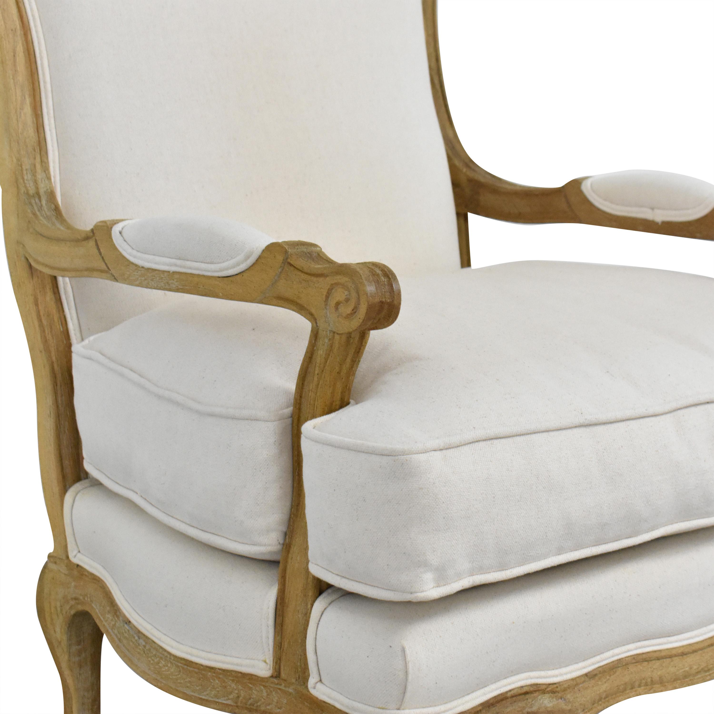 Ballard Designs Ballard Designs Louisa Bergere Chair White and brown