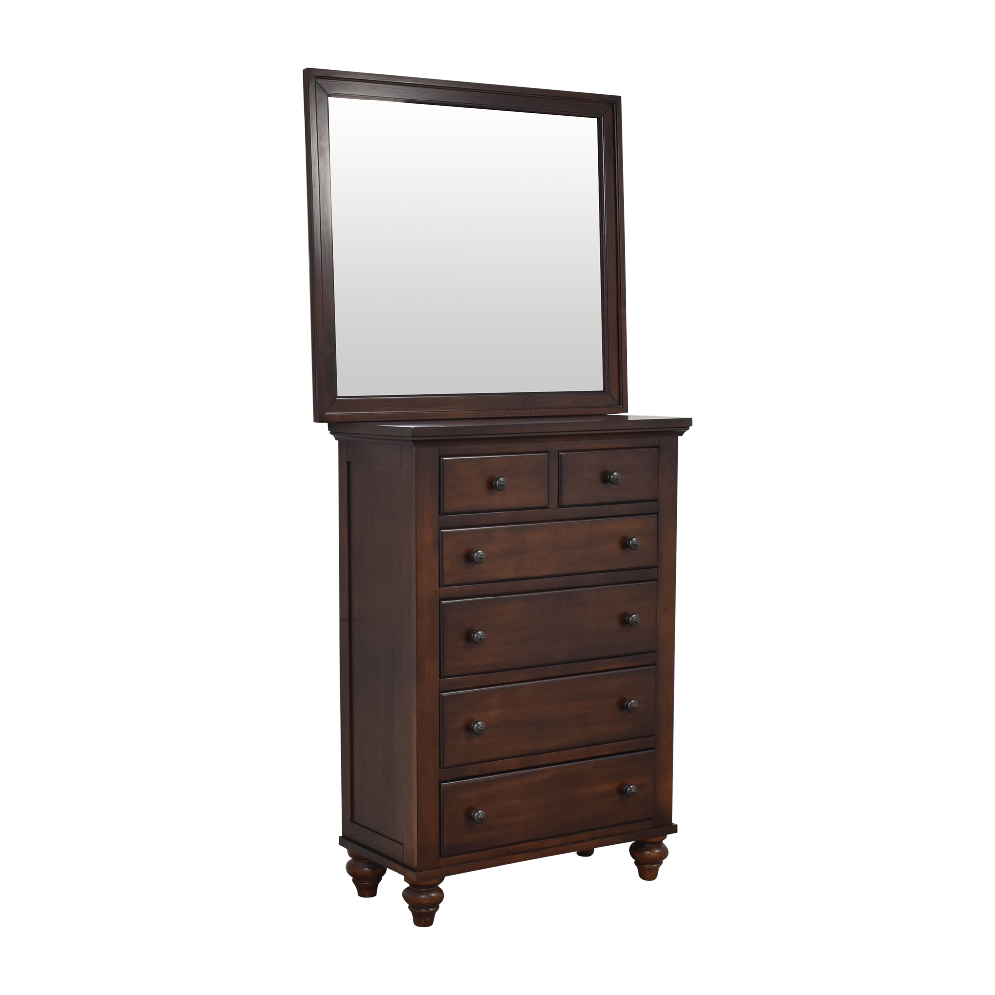 Raymour & Flanigan Raymour & Flanigan Six Drawer Chest with Mirror nyc