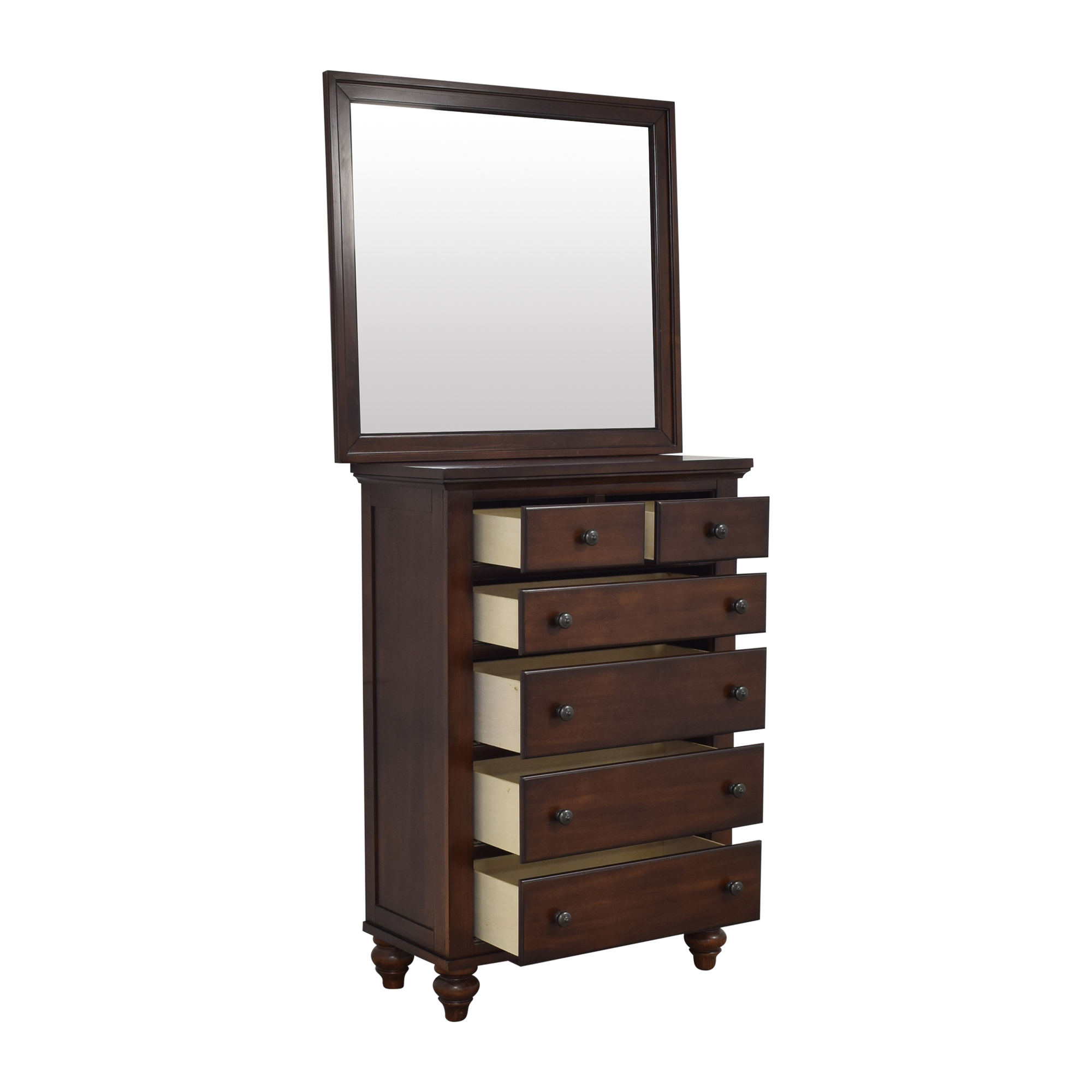 Raymour & Flanigan Raymour & Flanigan Six Drawer Chest with Mirror price