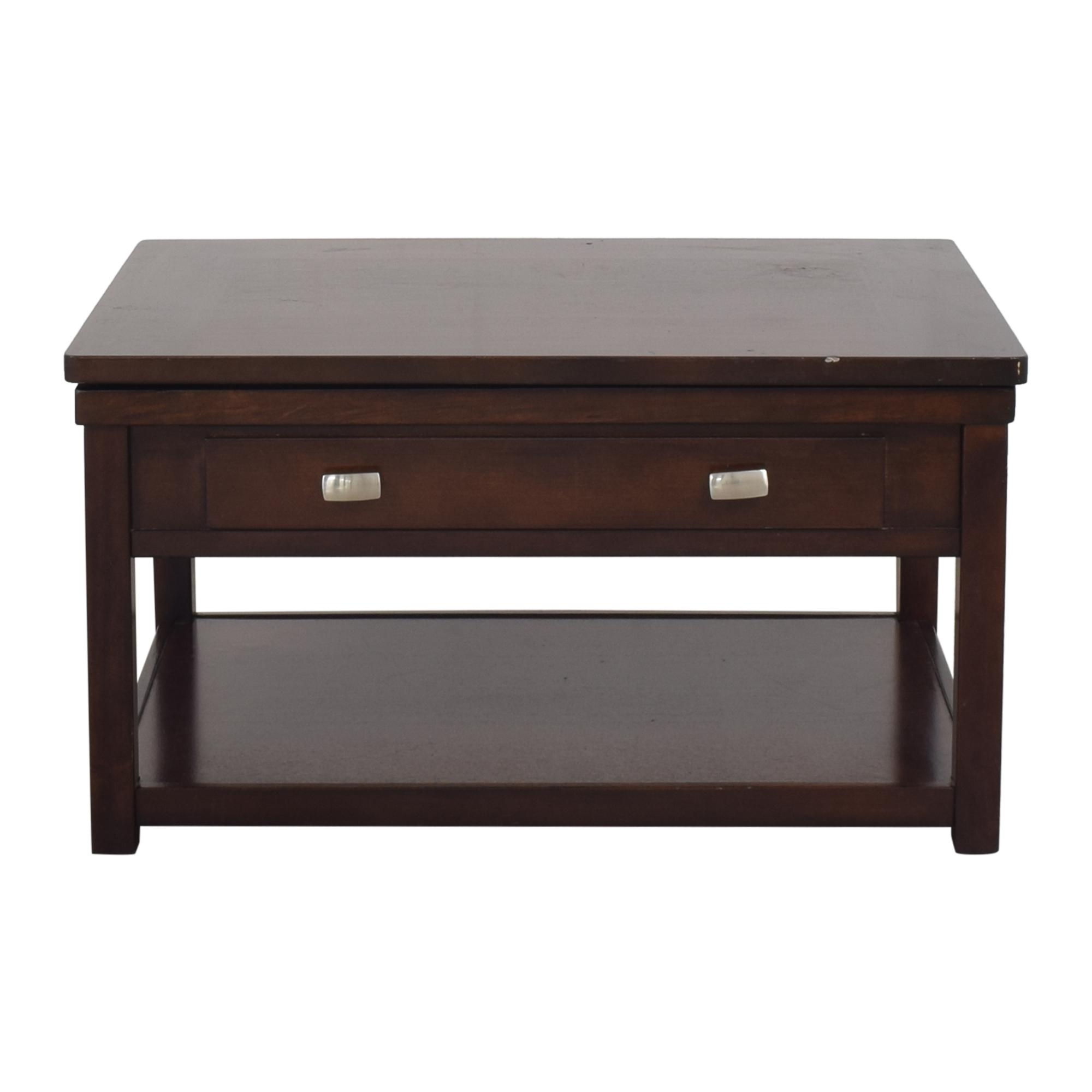 Ashley Furniture Ashley Furniture Hatsuko Lift Top Cocktail Table dark brown