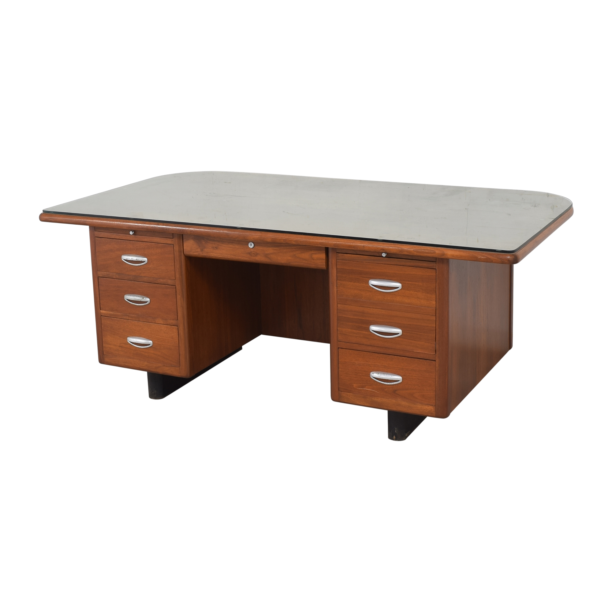 Hoosier Desk Co. Vintage Executive Desk / Tables