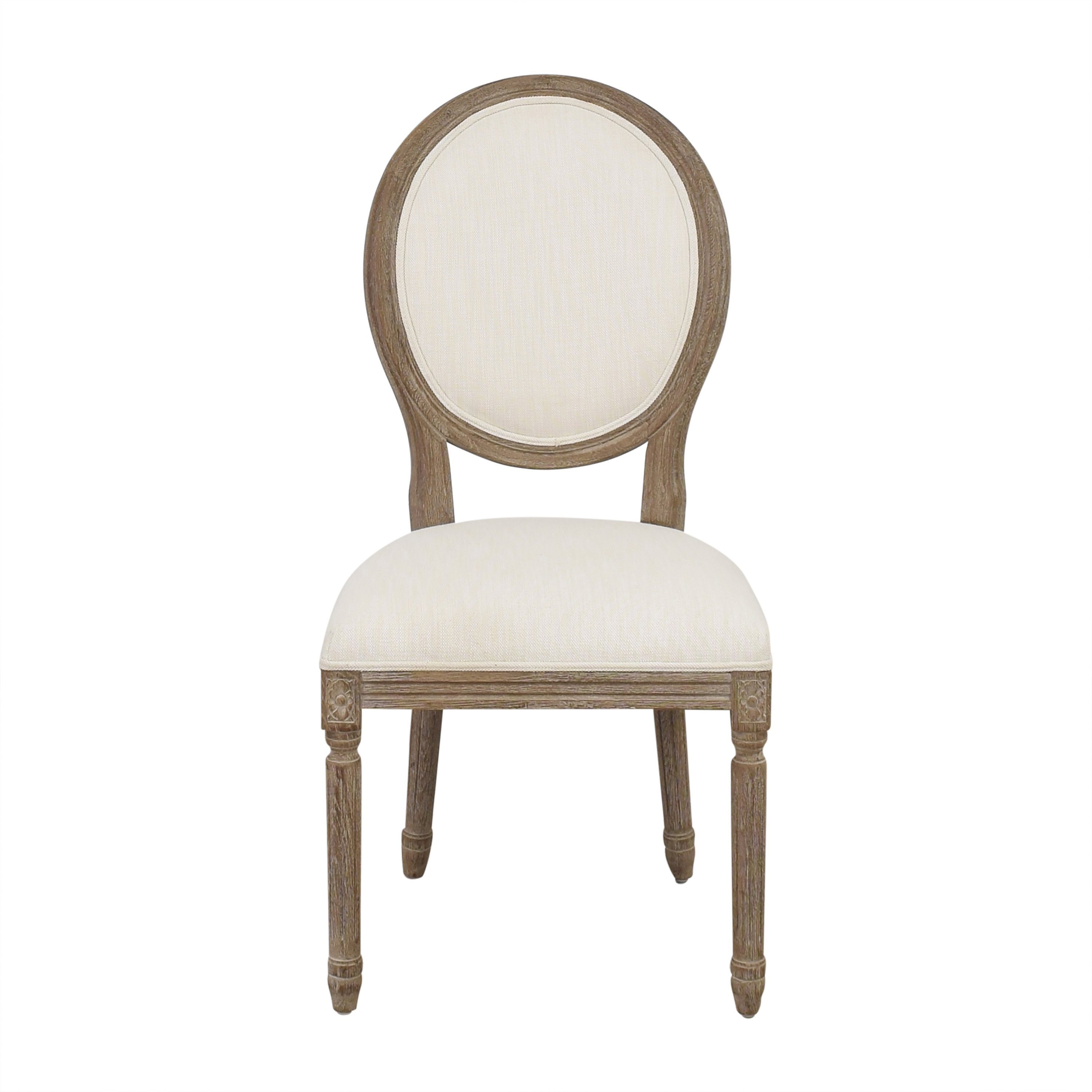 Restoration Hardware Restoration Hardware Vintage French Round Side Chair nj