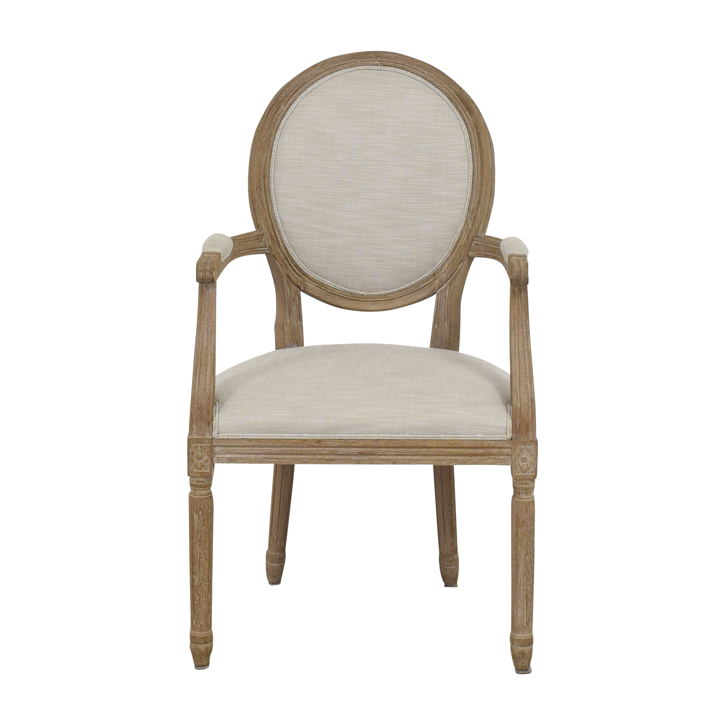 Restoration Hardware Vintage French Round Armchair / Dining Chairs