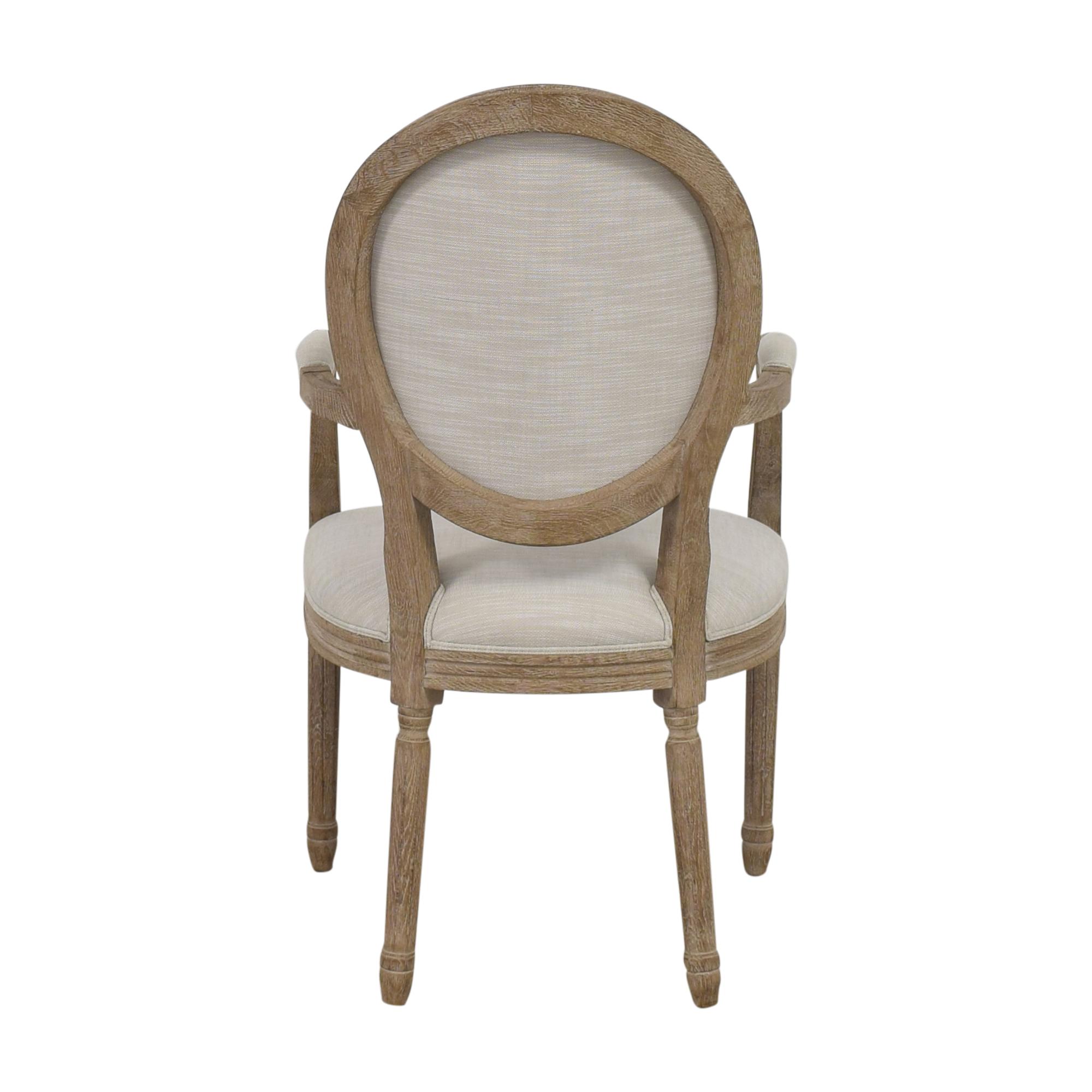 buy Restoration Hardware Vintage French Round Armchair Restoration Hardware Dining Chairs
