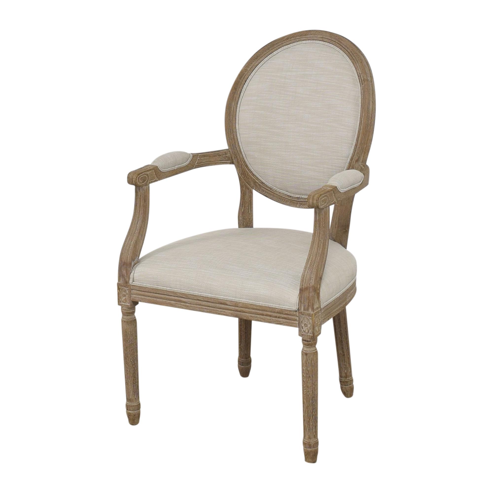shop Restoration Hardware Vintage French Round Armchair Restoration Hardware Chairs