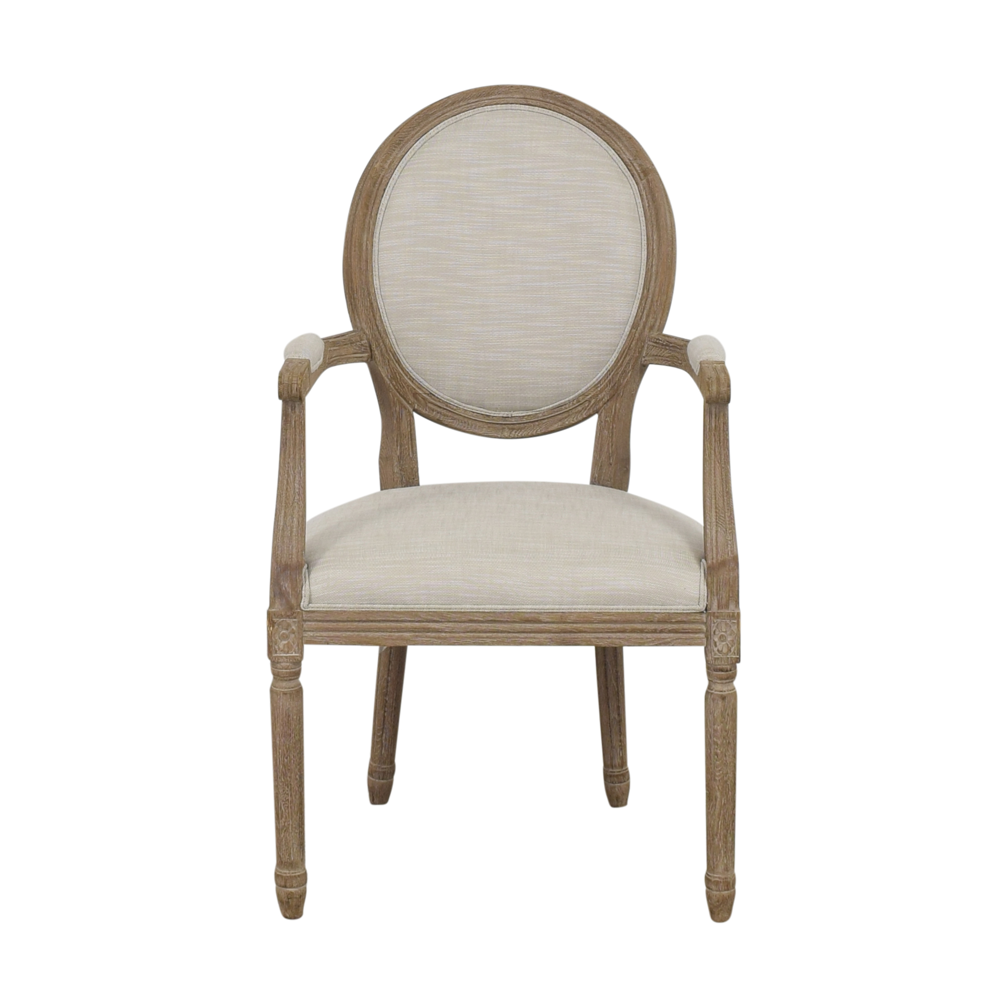 Restoration Hardware Restoration Hardware Vintage French Round Armchair Dining Chairs