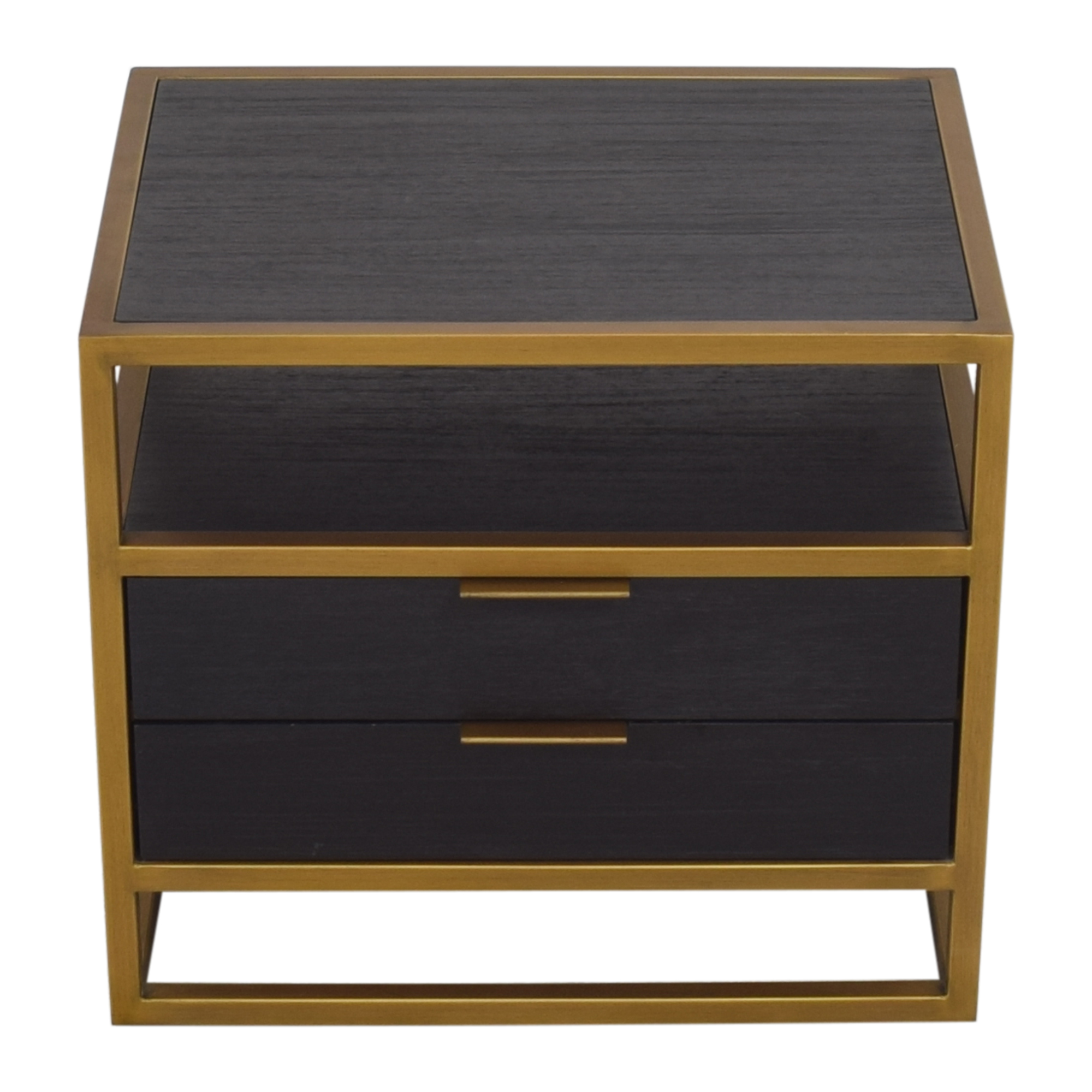 Crate & Barrel Crate & Barrel Oxford Two Drawer Nightstand ma