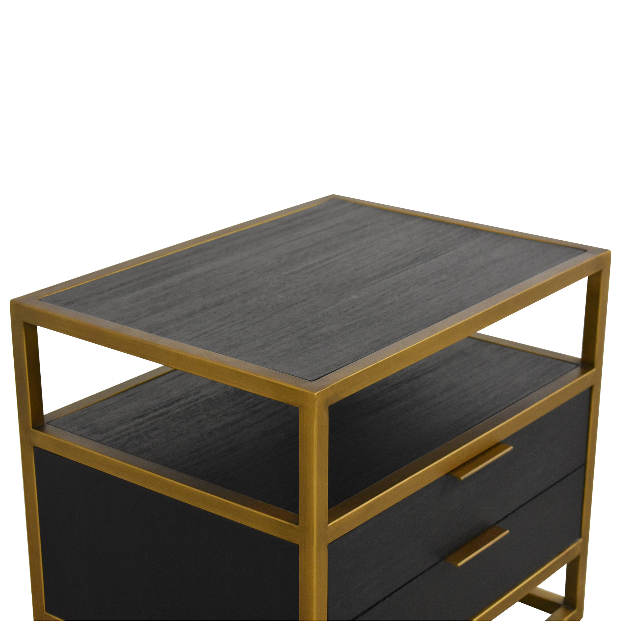 Crate & Barrel Crate & Barrel Oxford Two Drawer Nightstand