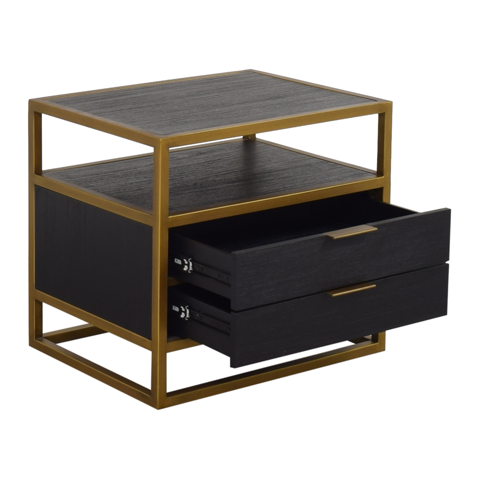 shop Crate & Barrel Oxford Two Drawer Nightstand Crate & Barrel