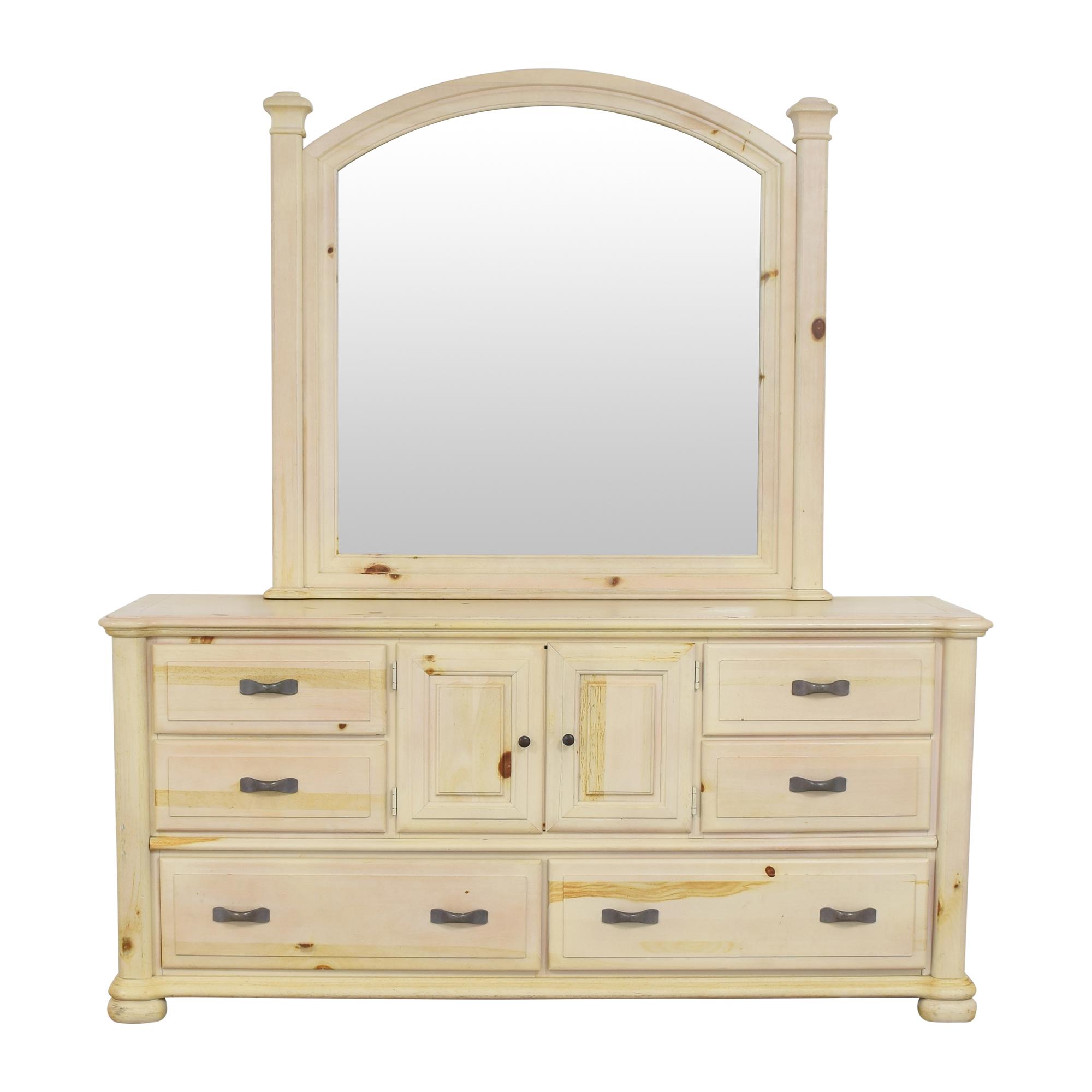 buy Stanley Triple Dresser with Mirror Stanley Furniture