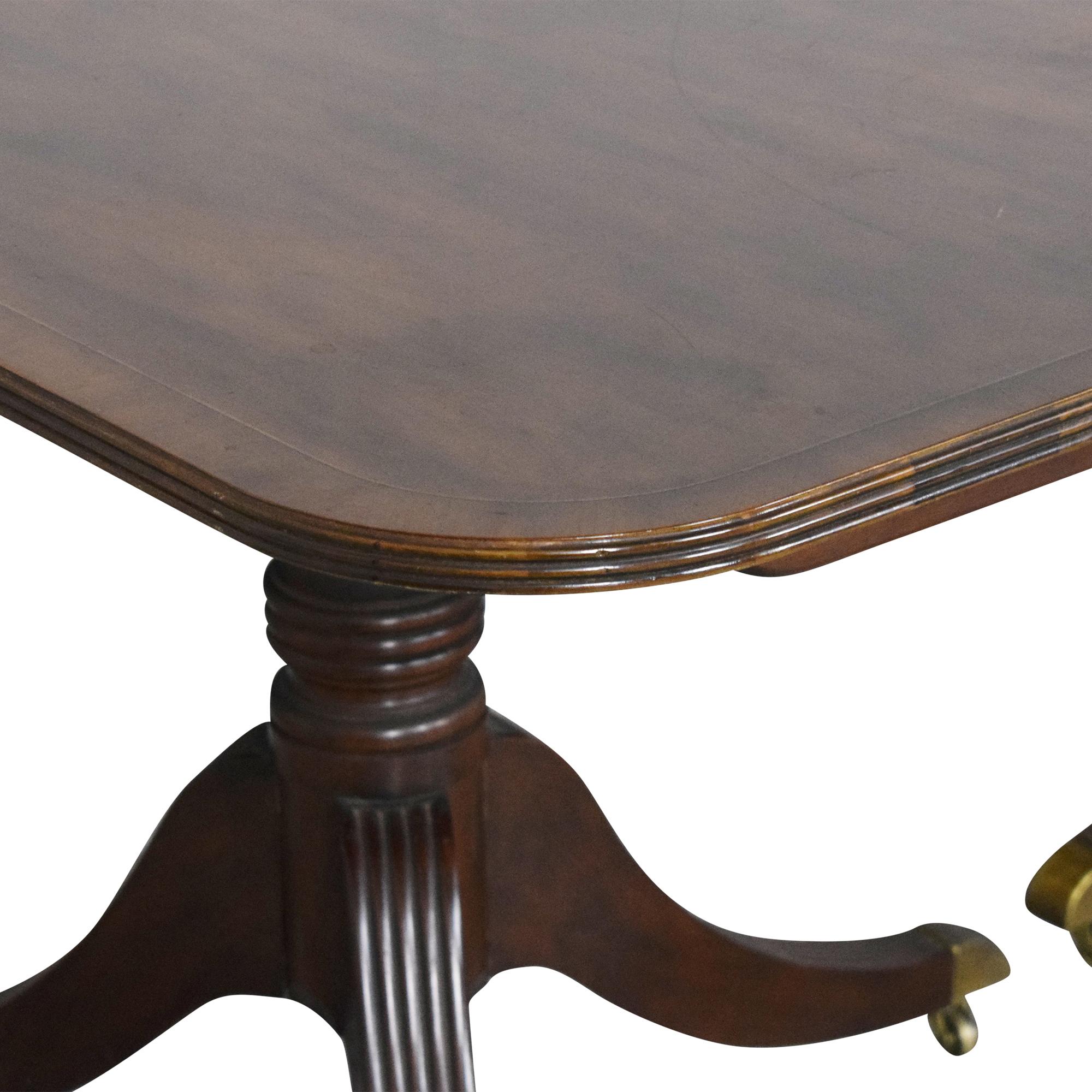Baker Furniture Baker Furniture Extendable Double Pedestal Dining Table Tables
