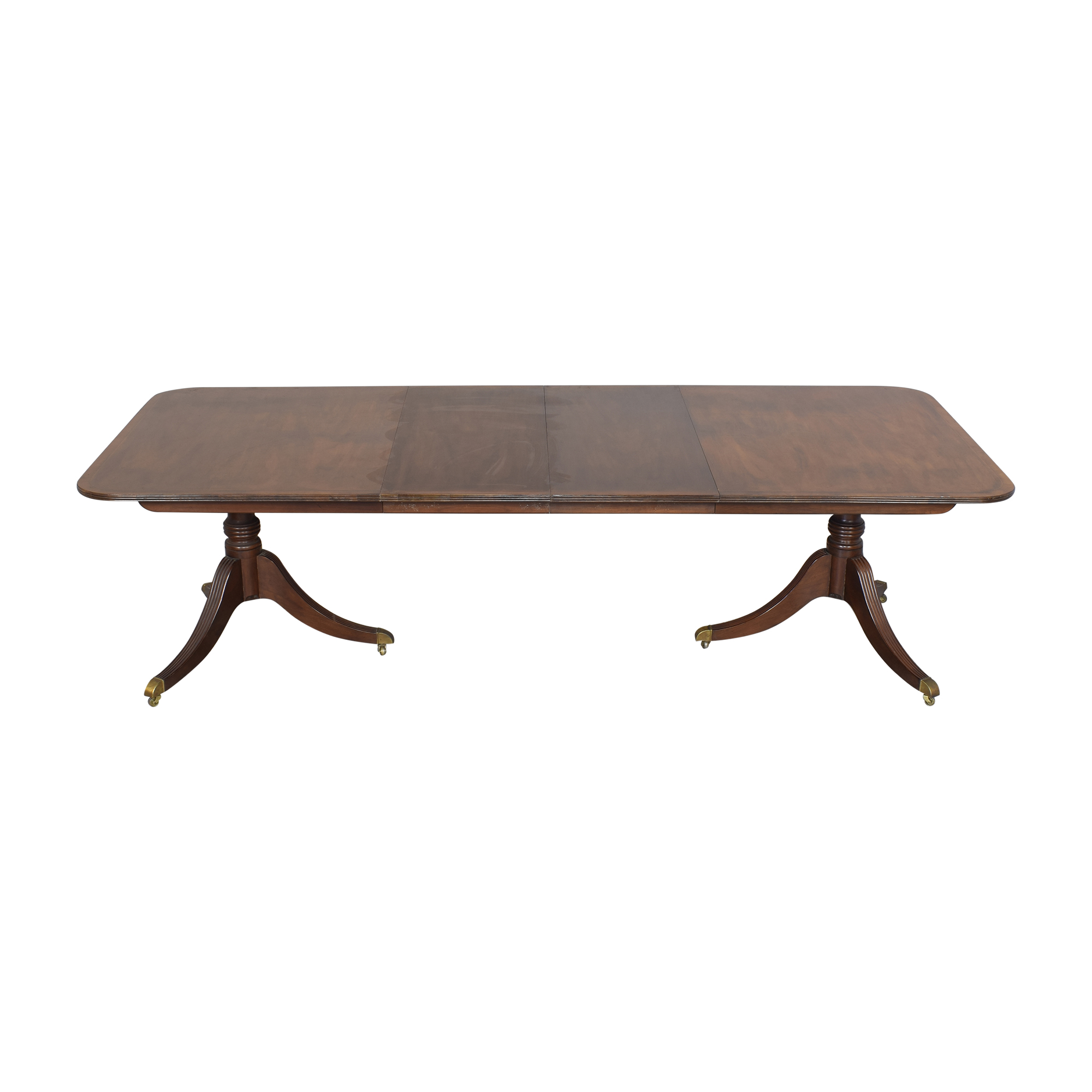 Baker Furniture Baker Furniture Extendable Double Pedestal Dining Table nyc