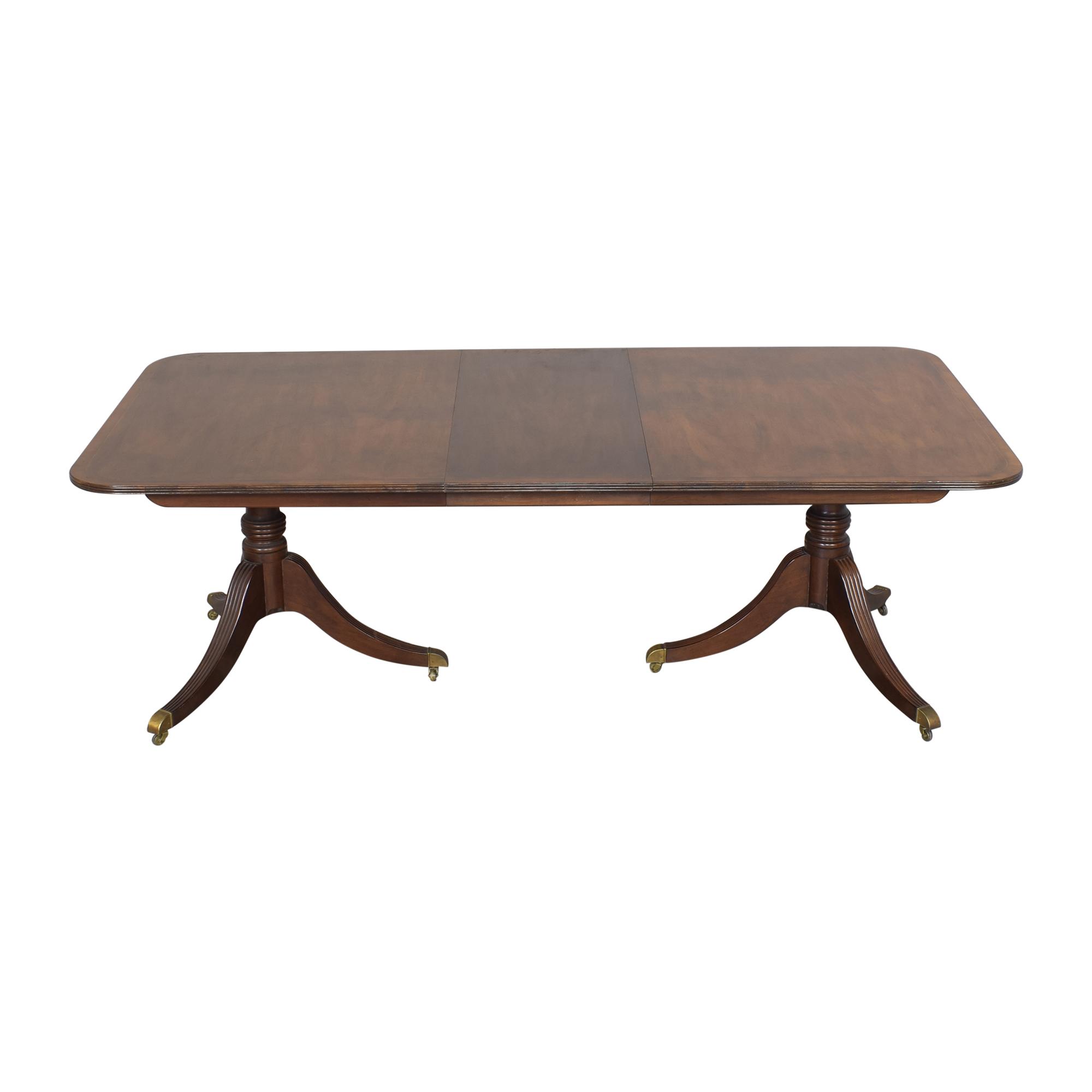 buy Baker Furniture Baker Furniture Extendable Double Pedestal Dining Table online