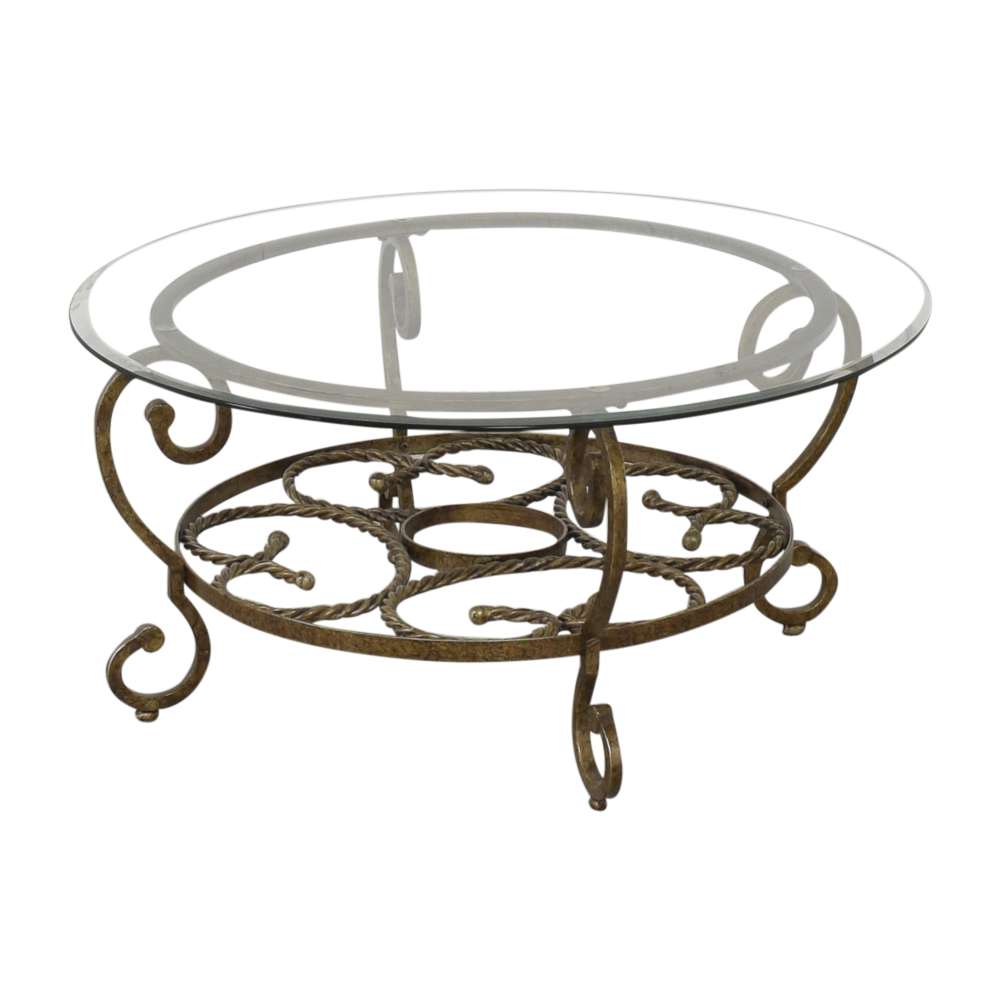 Raymour & Flanigan Raymour & Flanigan Round Coffee Table second hand