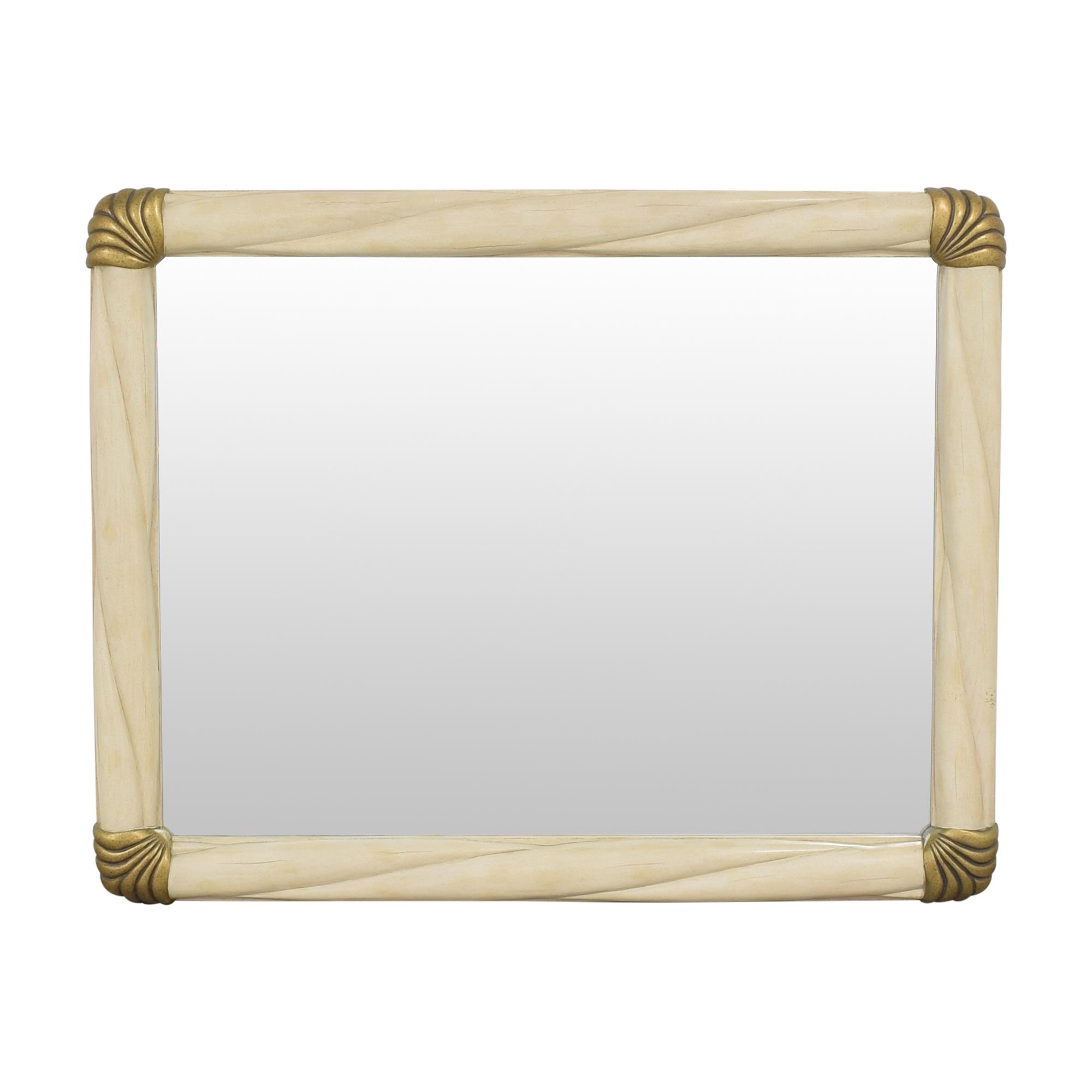 Bernhardt Bernhardt Framed Wall Mirror cream & gold