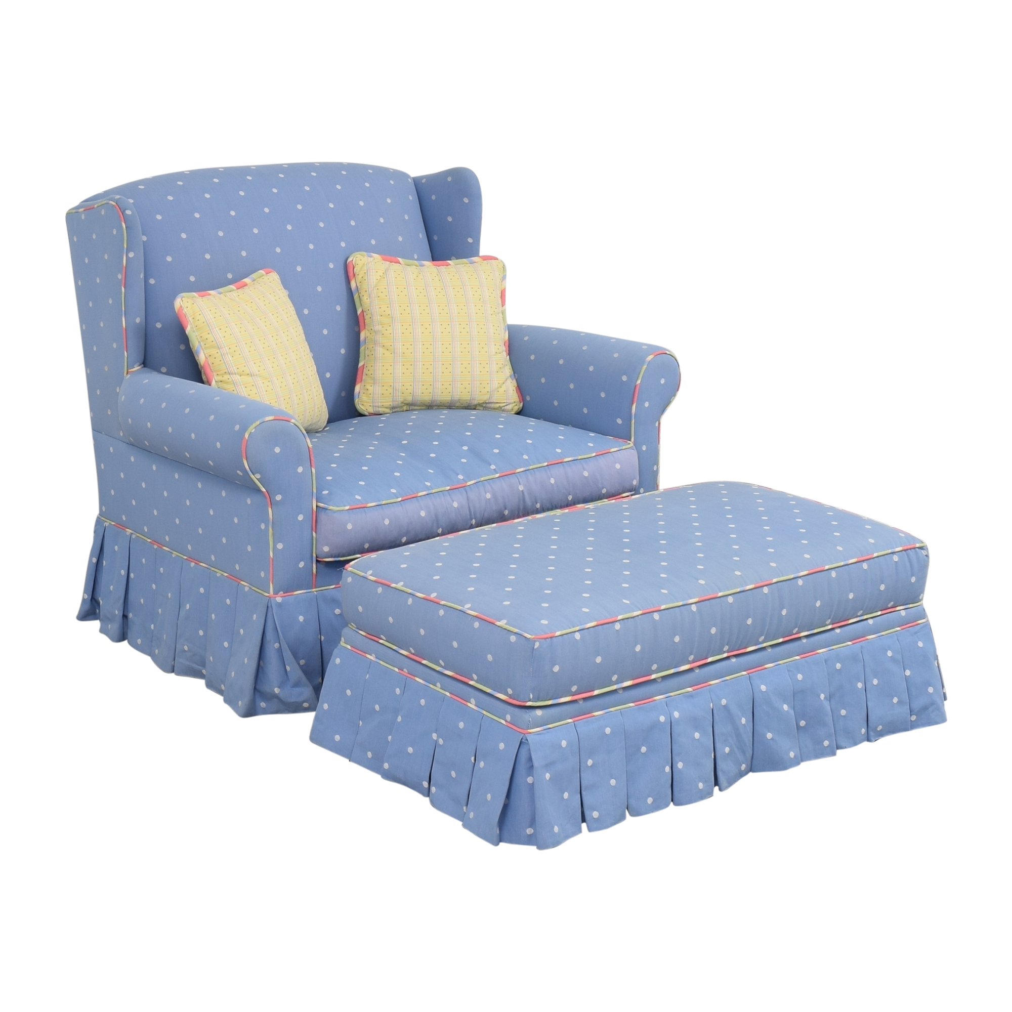 Ethan Allen Ethan Allen Glider with Ottoman Accent Chairs