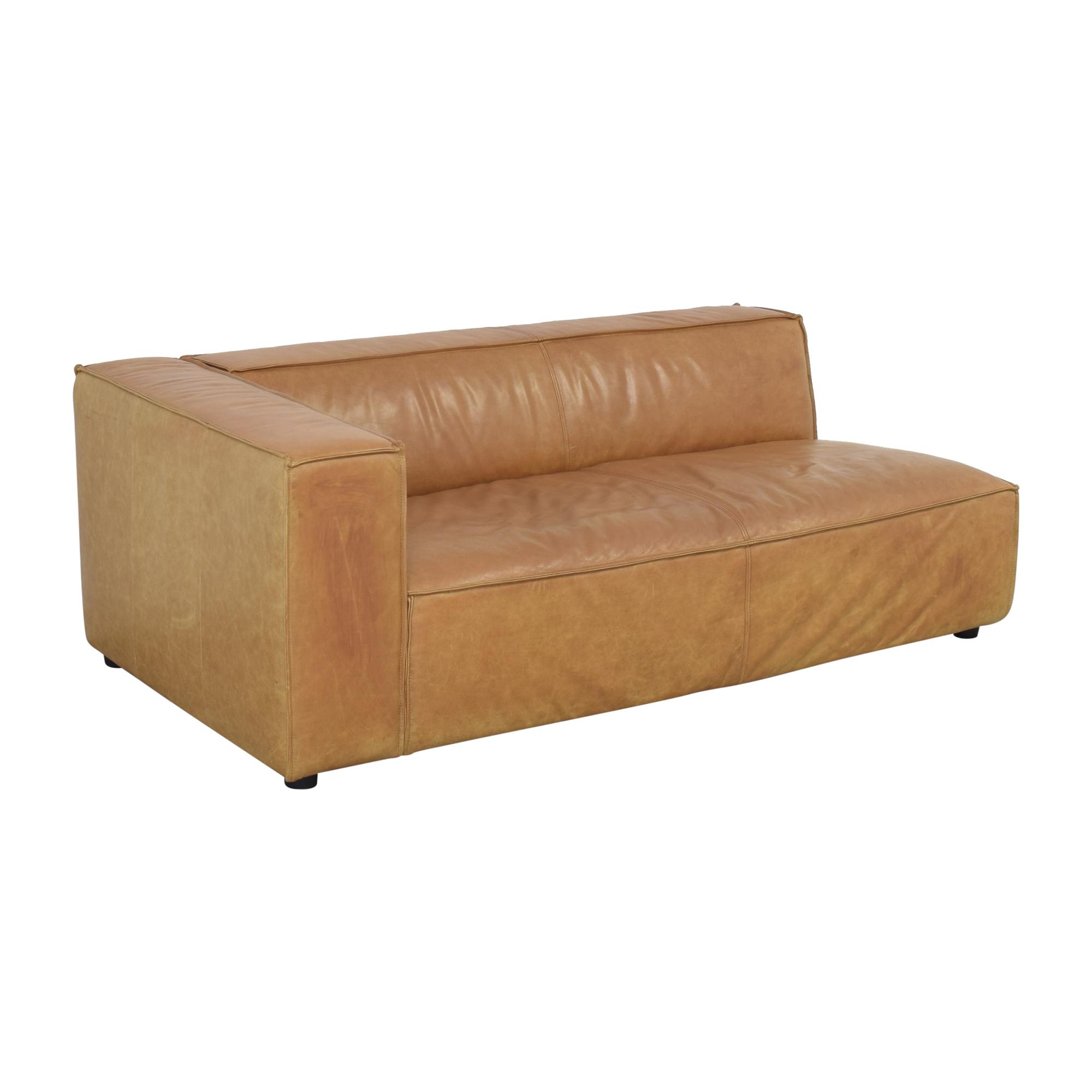 Interior Define Interior Define Gray Single Arm Sofa dimensions