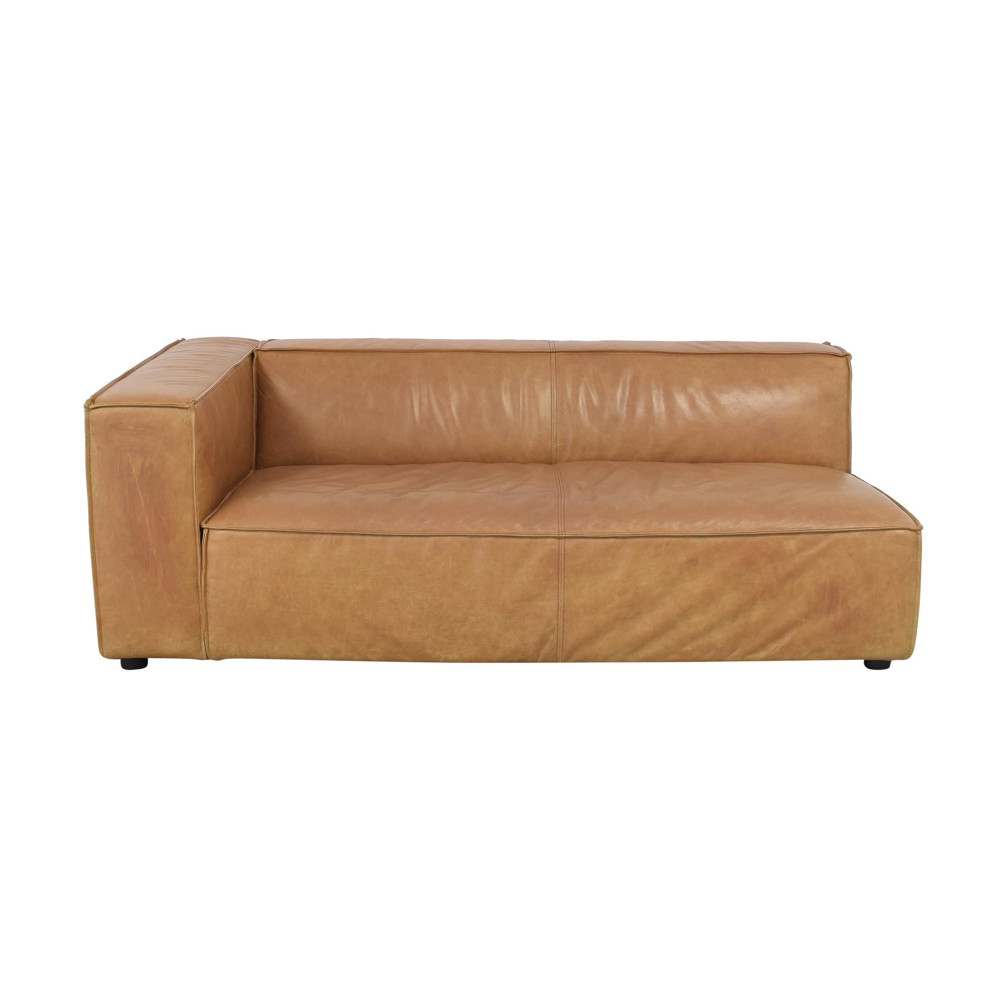 buy Interior Define Gray Single Arm Sofa Interior Define Sectionals