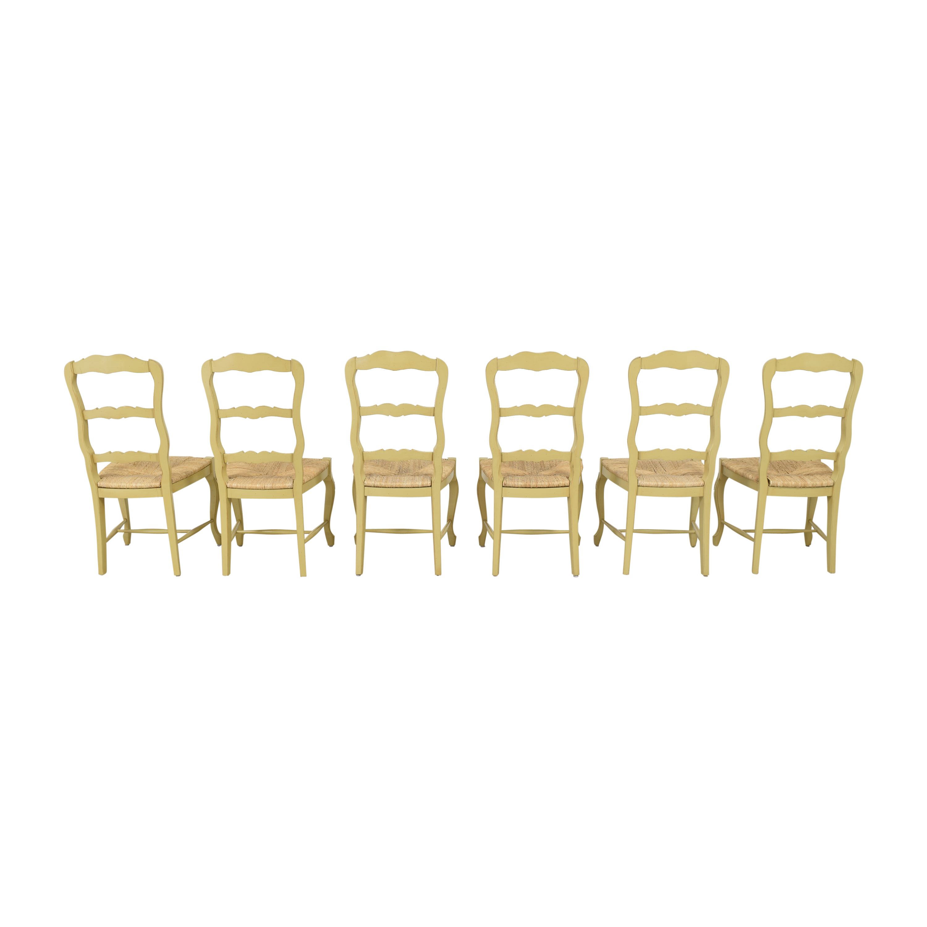 French Style Ladderback Dining Chairs second hand