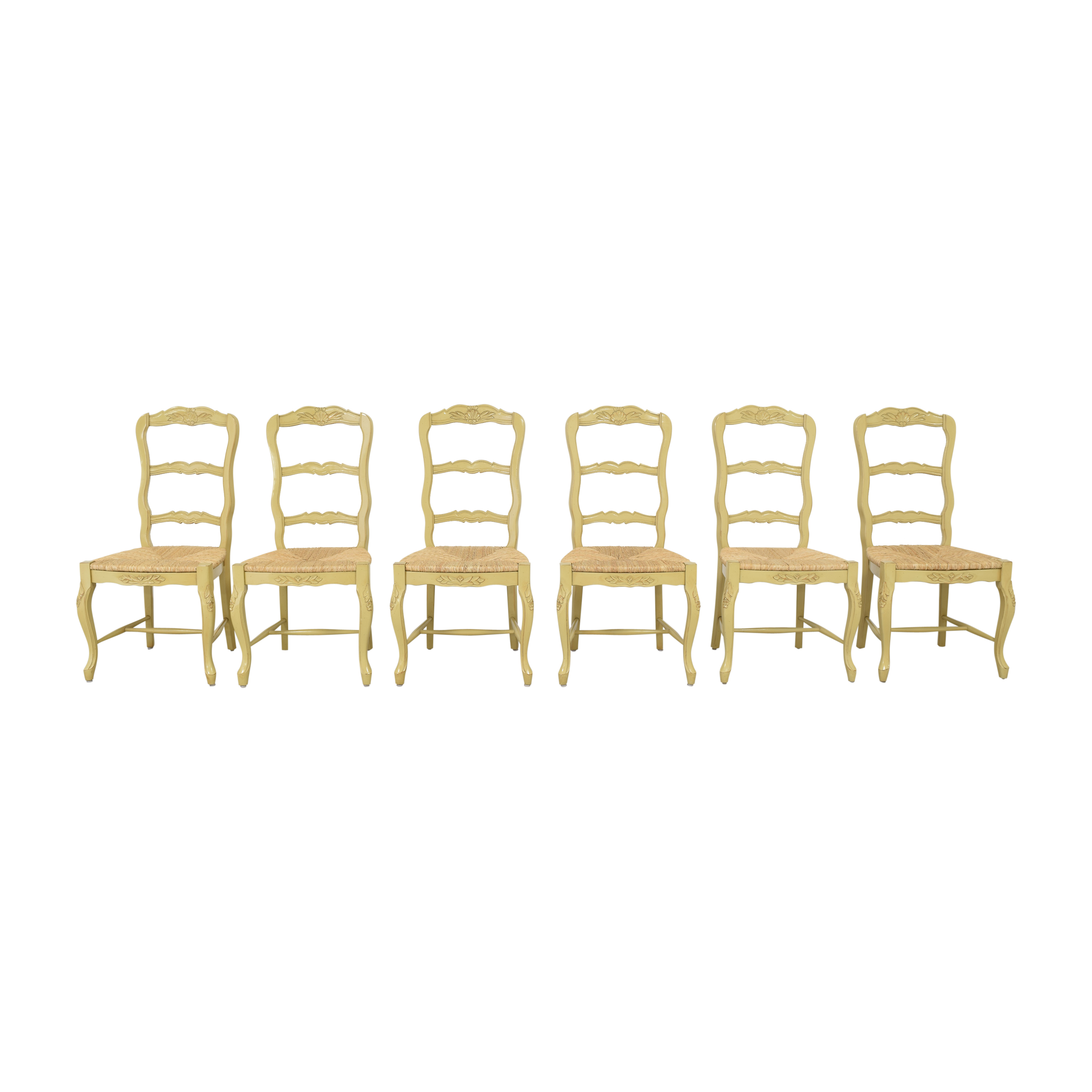 French Style Ladderback Dining Chairs discount