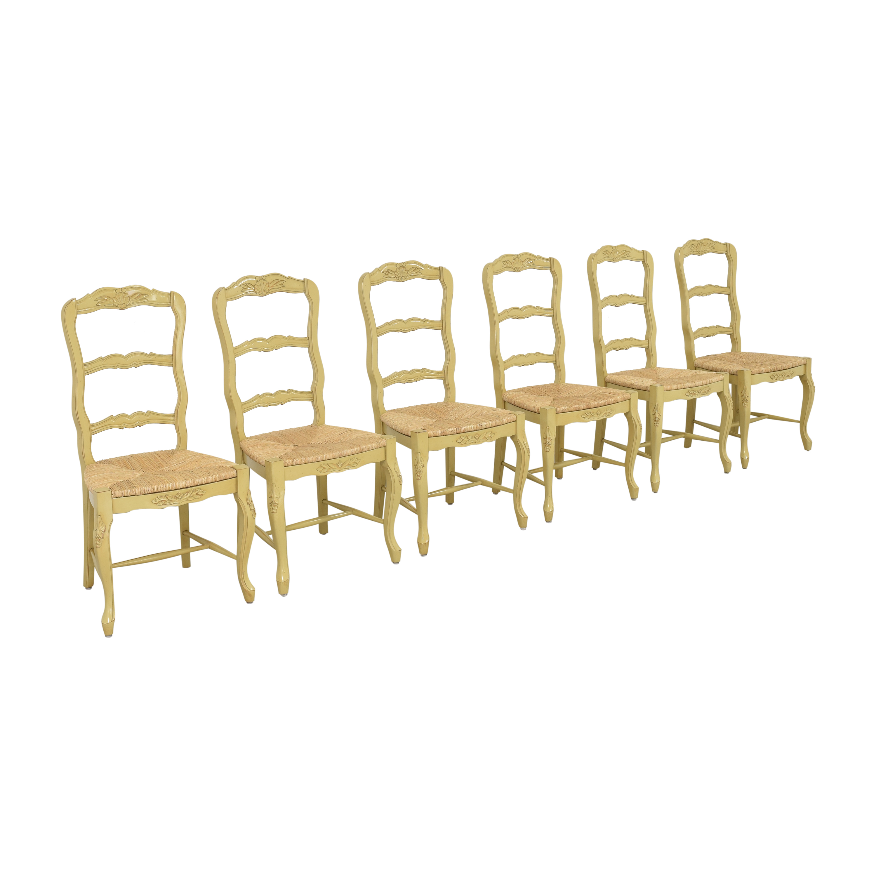 French Style Ladderback Dining Chairs dimensions