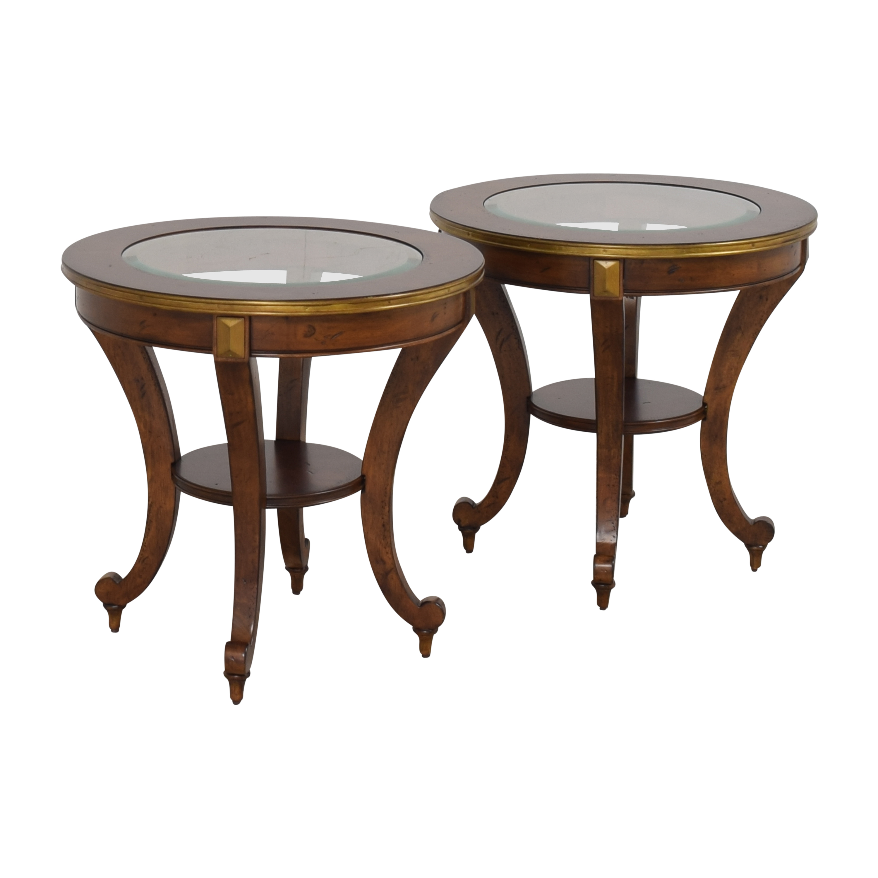 Havertys Havertys Round End Tables pa
