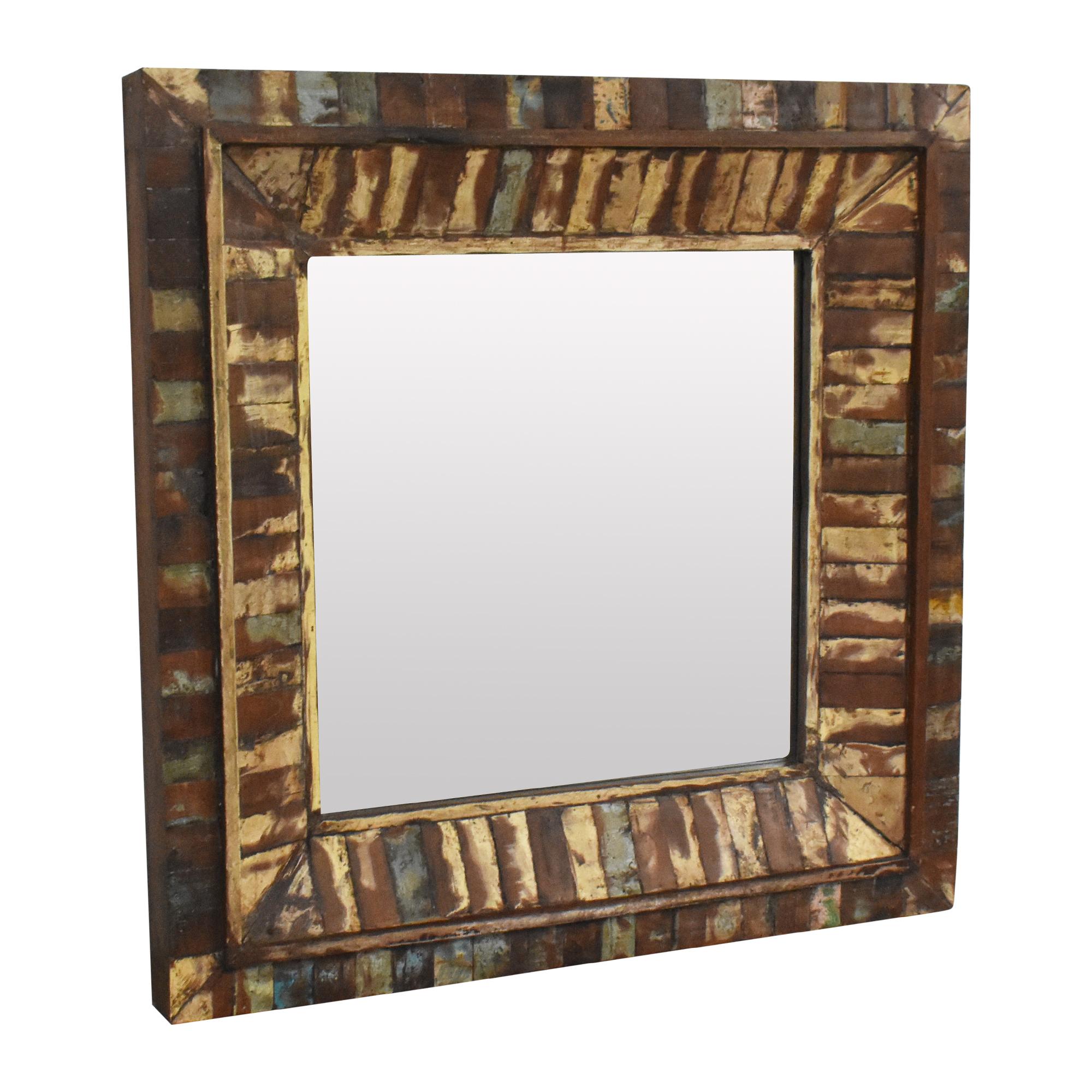 buy Rustic Framed Wall Mirror  Decor