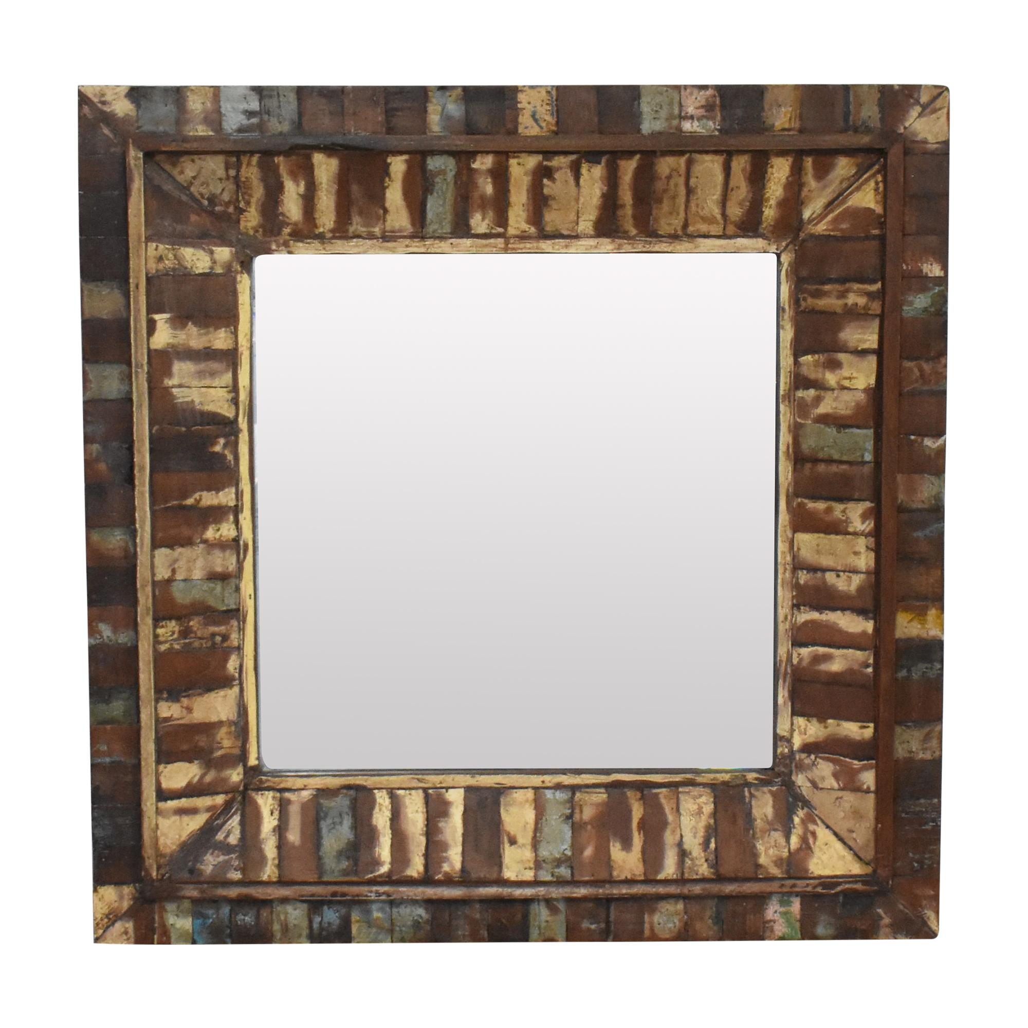 Rustic Framed Wall Mirror / Decor