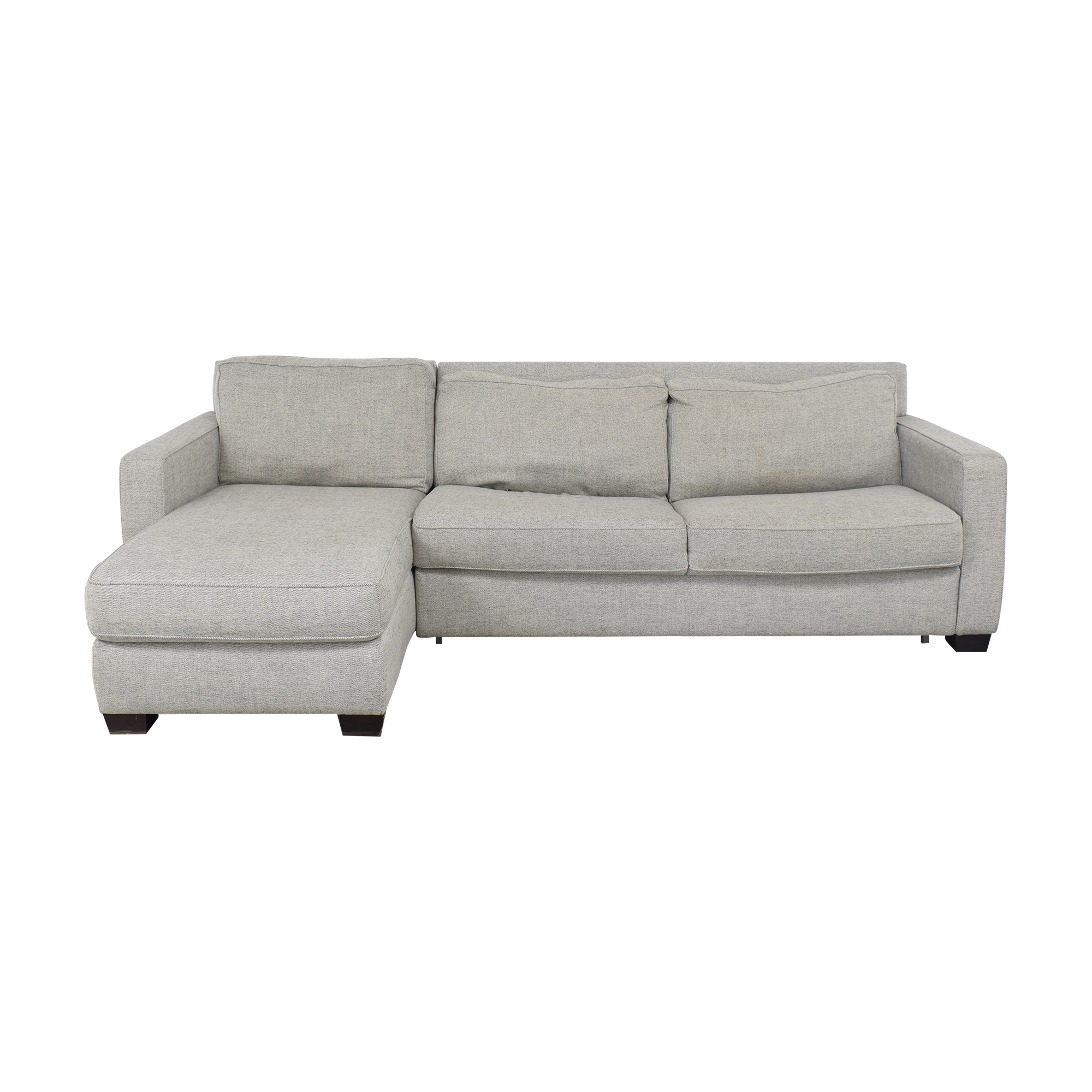 West Elm West Elm Henry Two Piece Full Sleeper Sectional with Storage nj