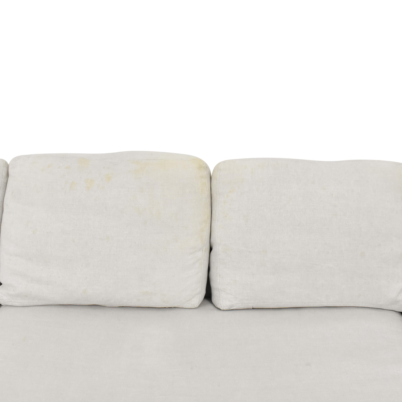 buy Restoration Hardware Chaise Sectional Sofa  Restoration Hardware