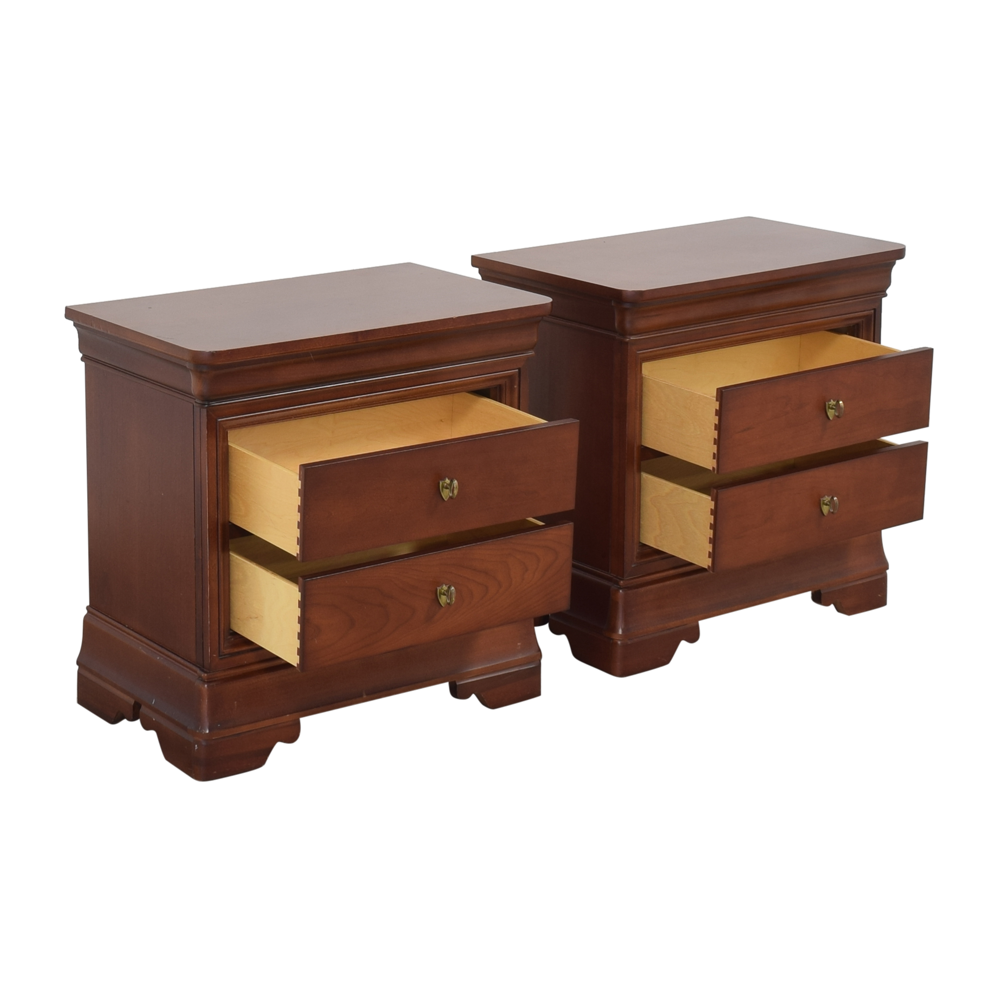 Thomasville Impressions Two Drawer Nightstands / End Tables