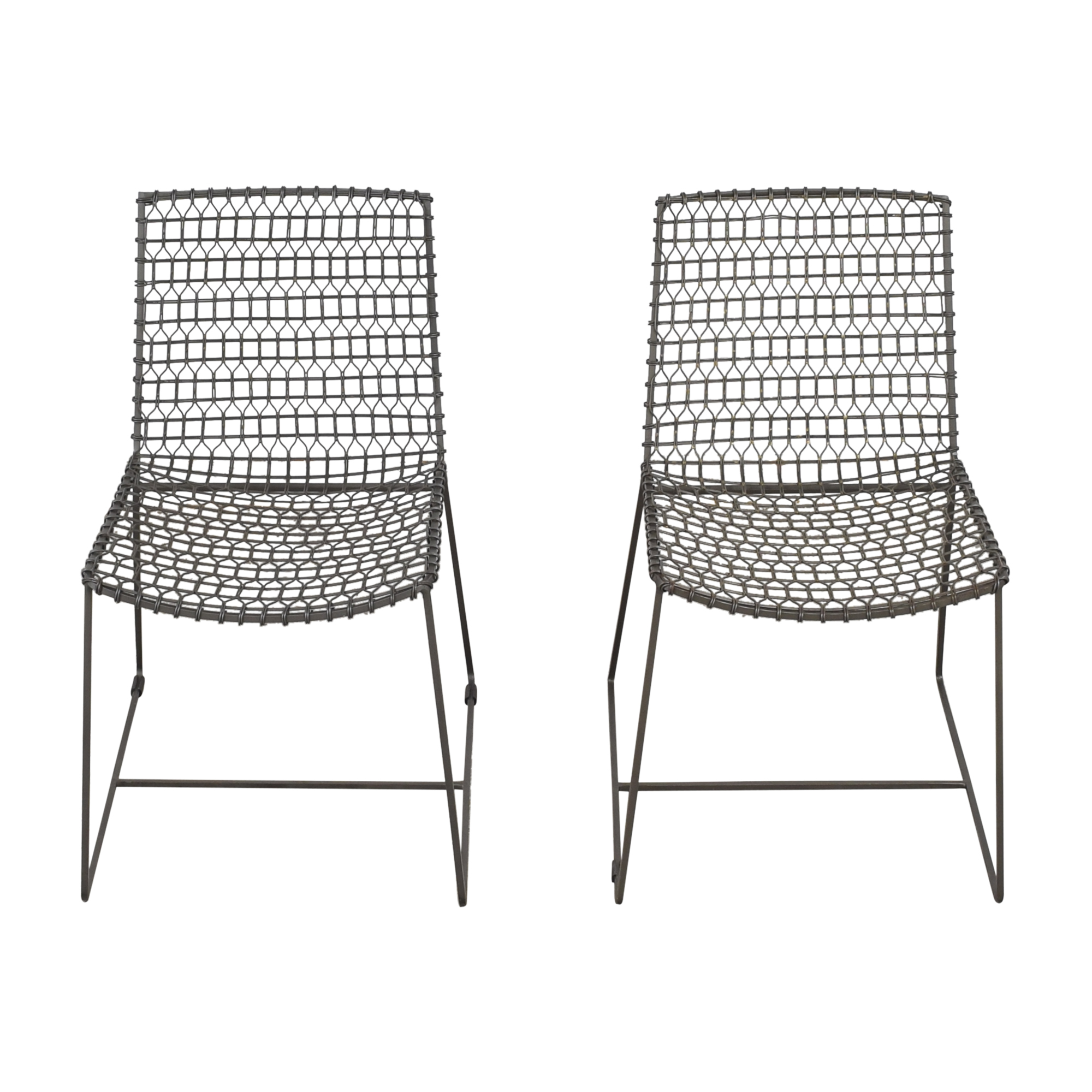 Crate & Barrel Crate & Barrel Tig Dining Chairs pa