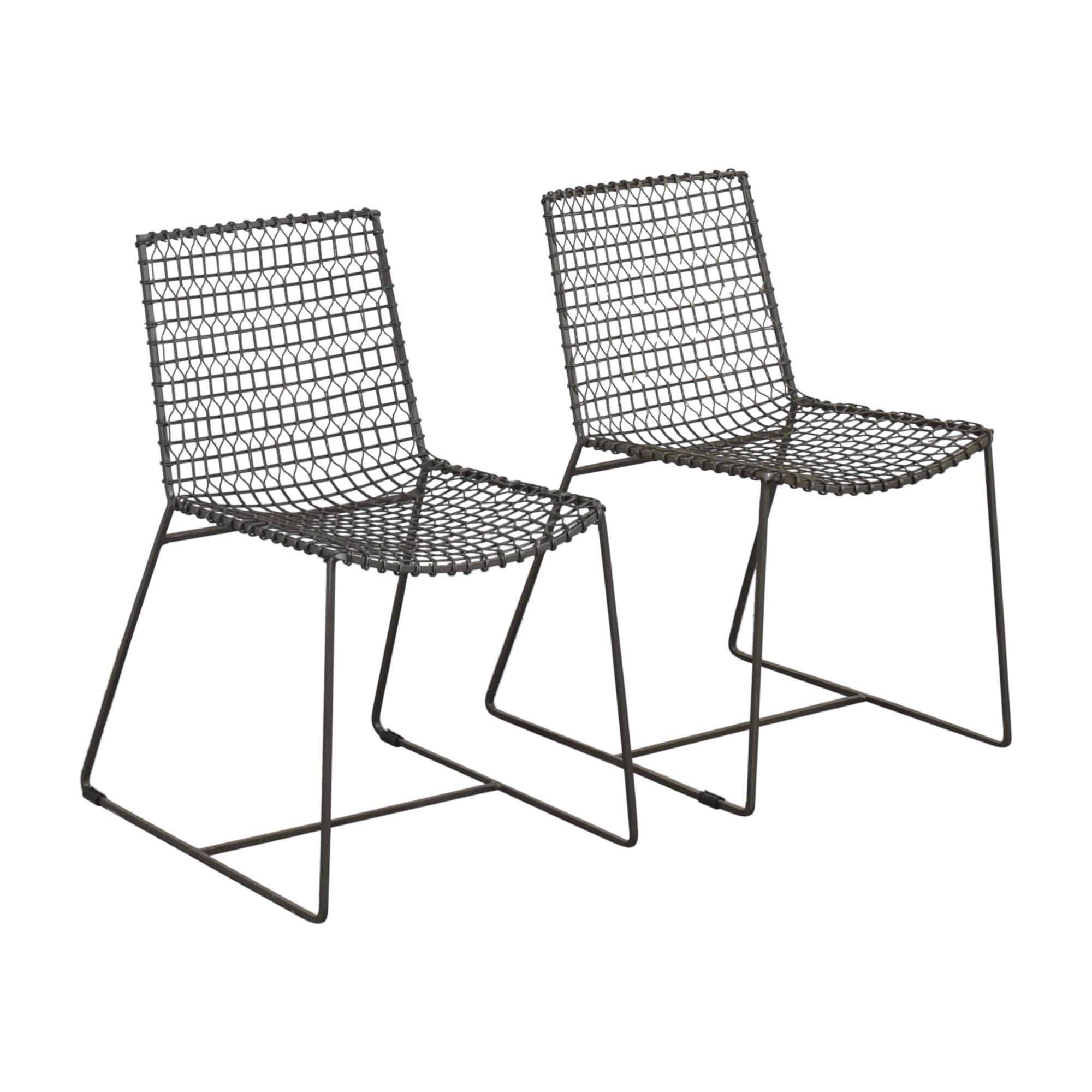 shop Crate & Barrel Tig Dining Chairs Crate & Barrel