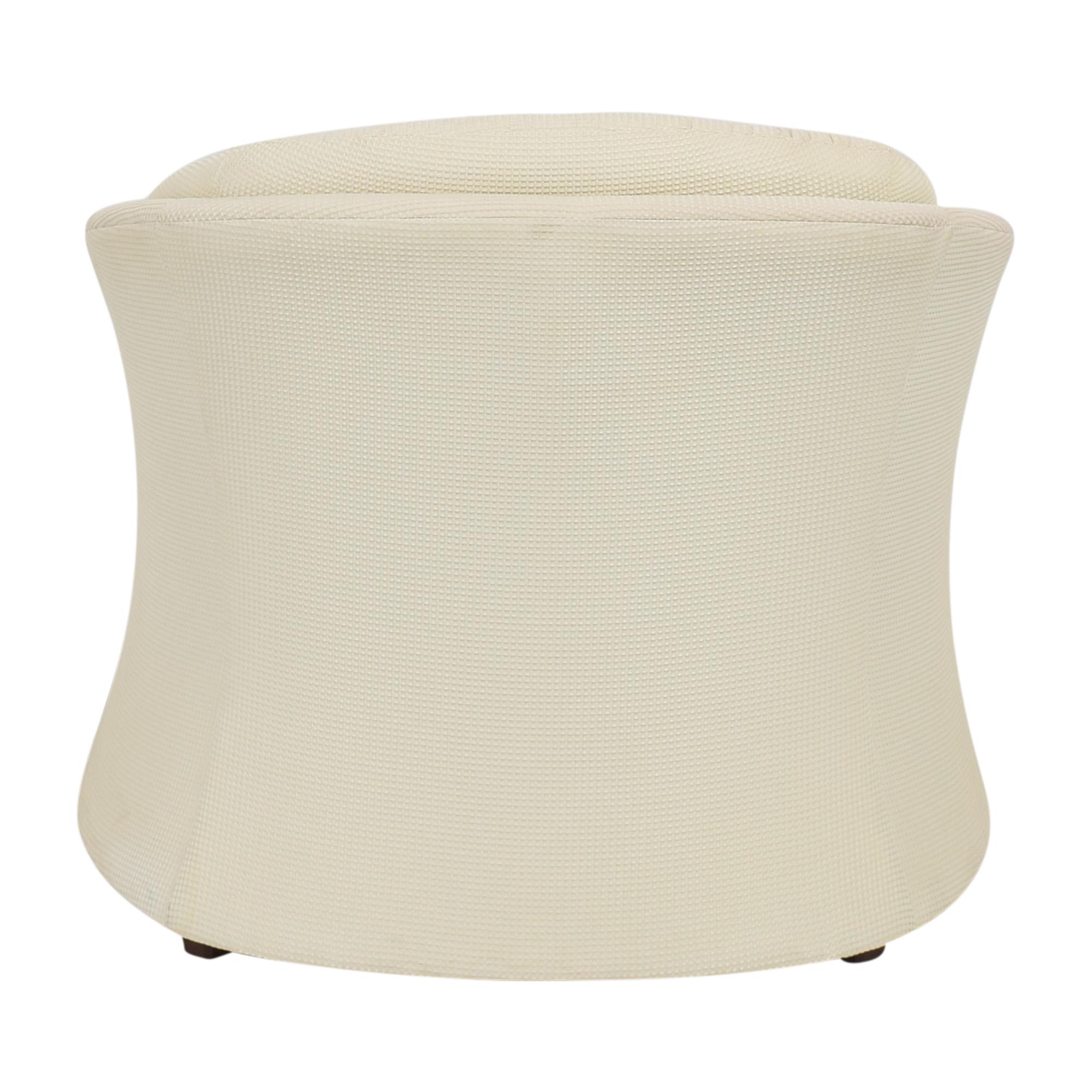 Carson Carson Flared Accent Chair White