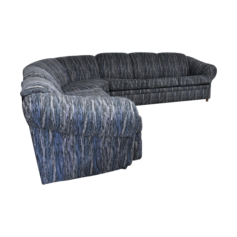 Schweiger Industries Schweiger Industries L Shaped Sectional Sleeper Sofa pa