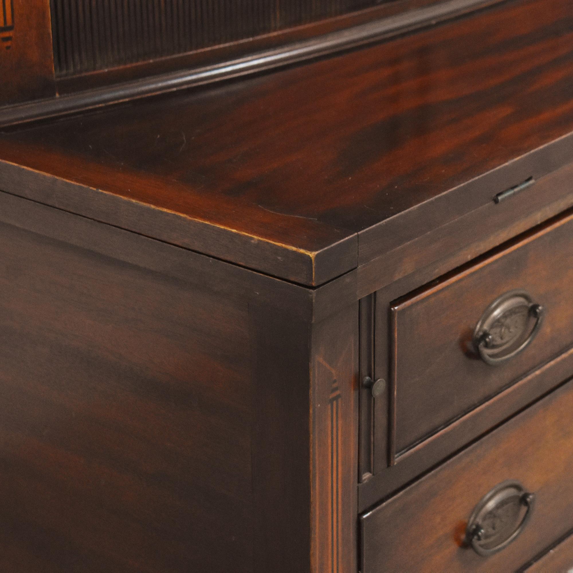 Vintage Hepplewhite-Style Secretary Desk Home Office Desks