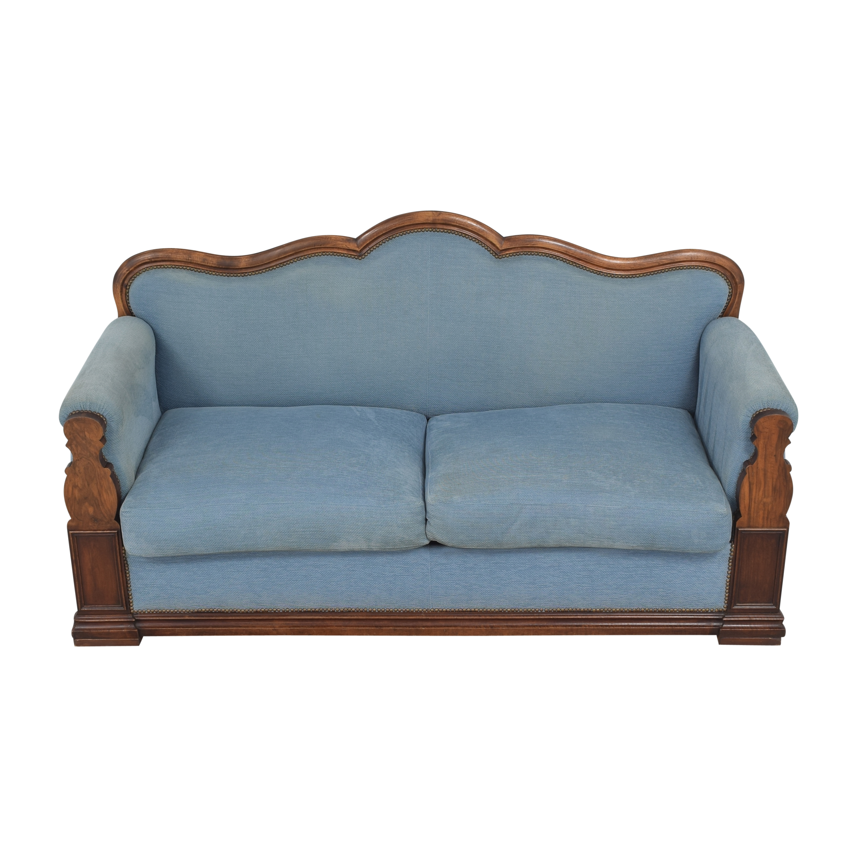 Louis Philippe-Style Two Cushion Sofa dimensions