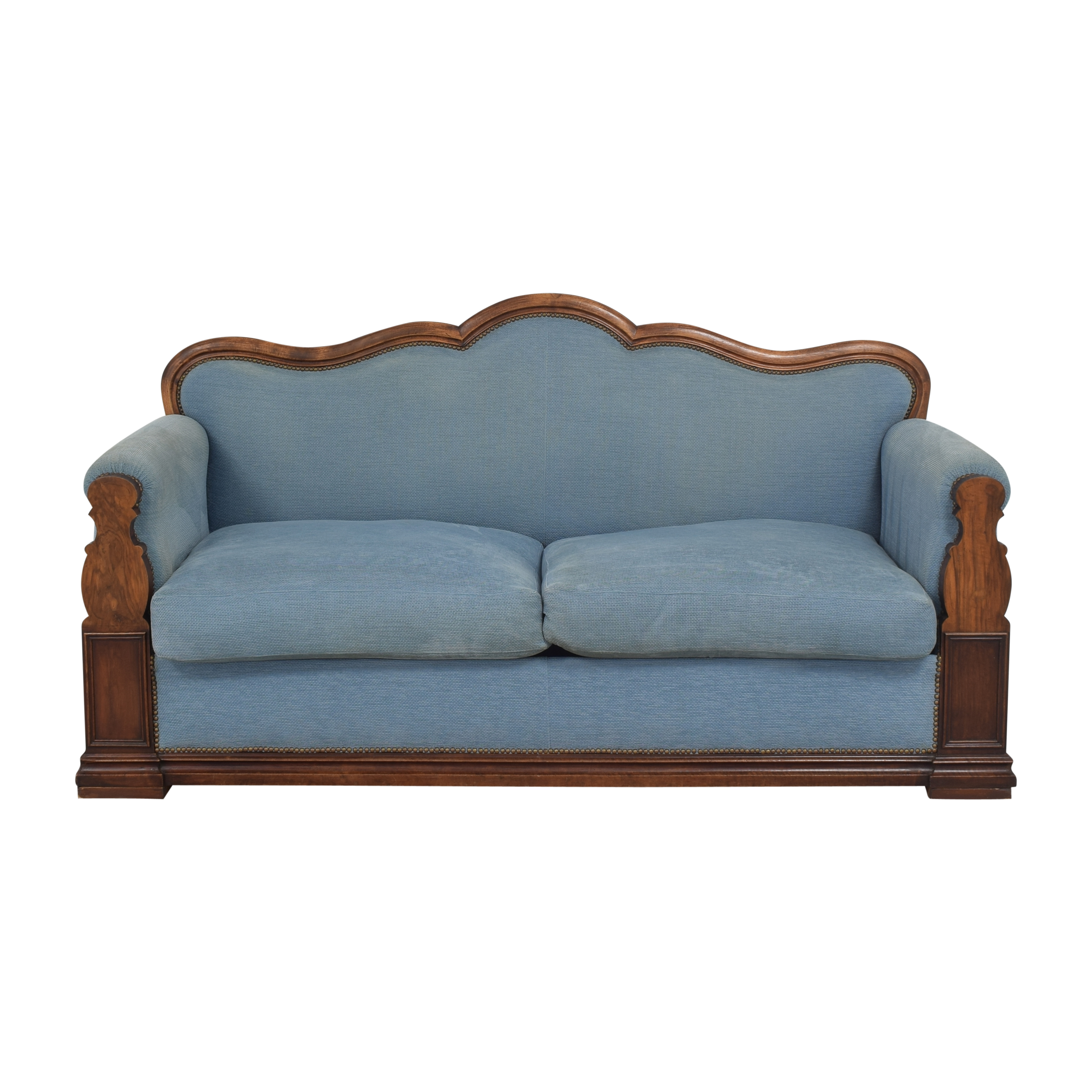 Louis Philippe-Style Two Cushion Sofa second hand
