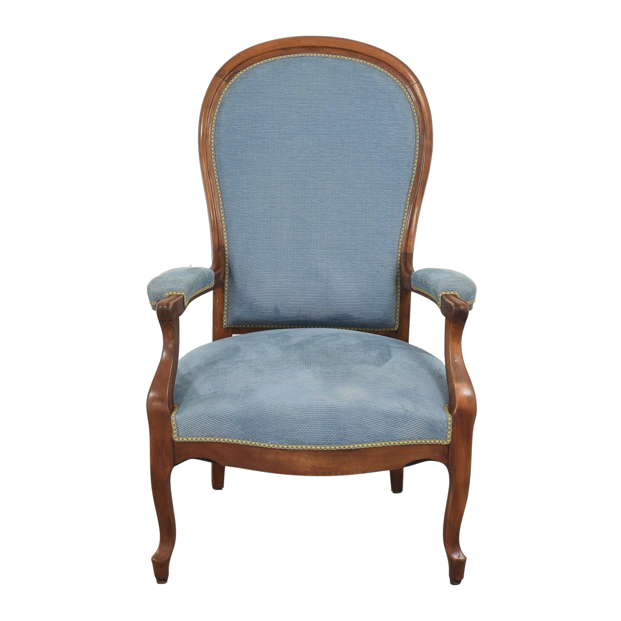 buy Vintage Voltaire-Style Accent Chair  Accent Chairs