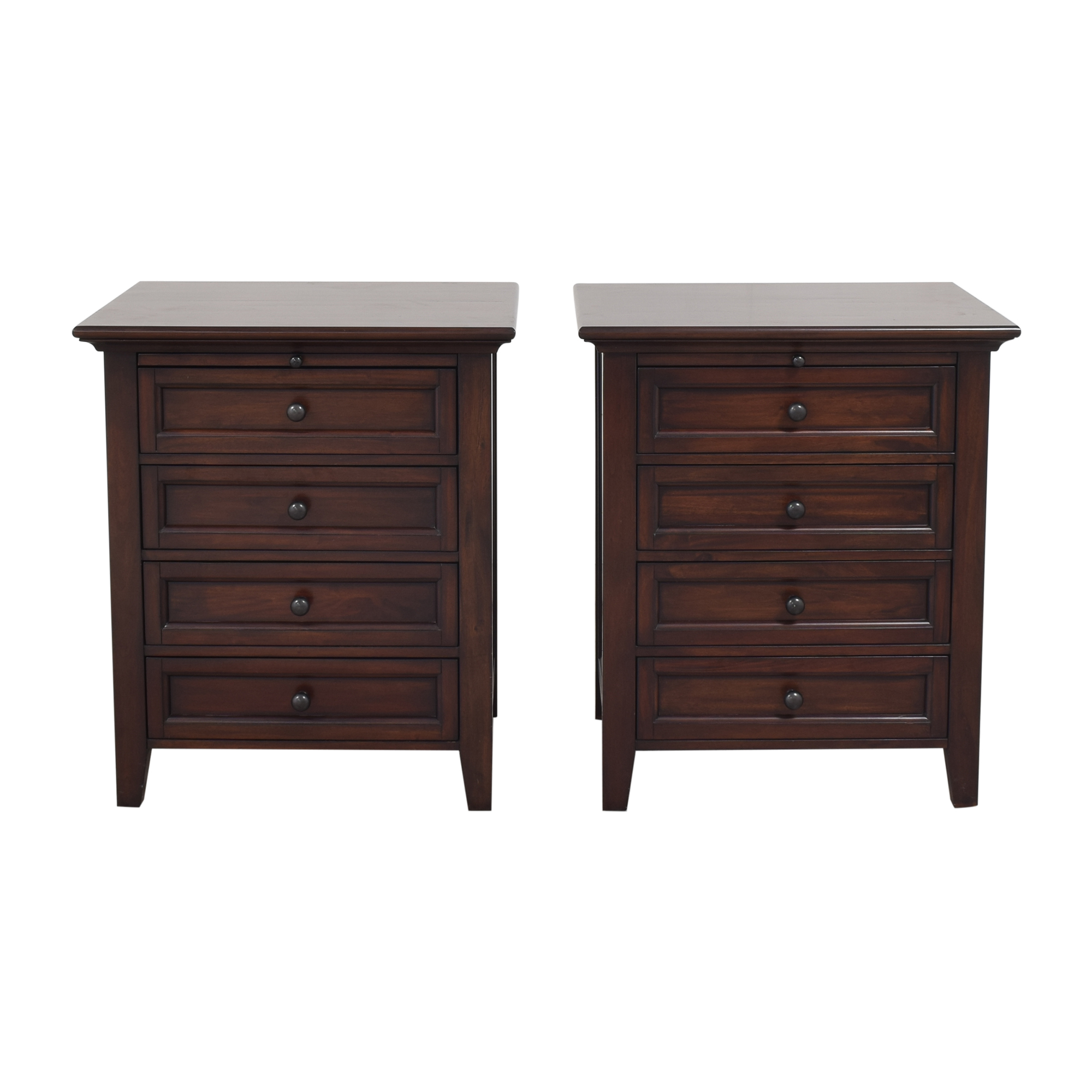Pottery Barn Pottery Barn Hudson Four Drawer Nightstands dimensions