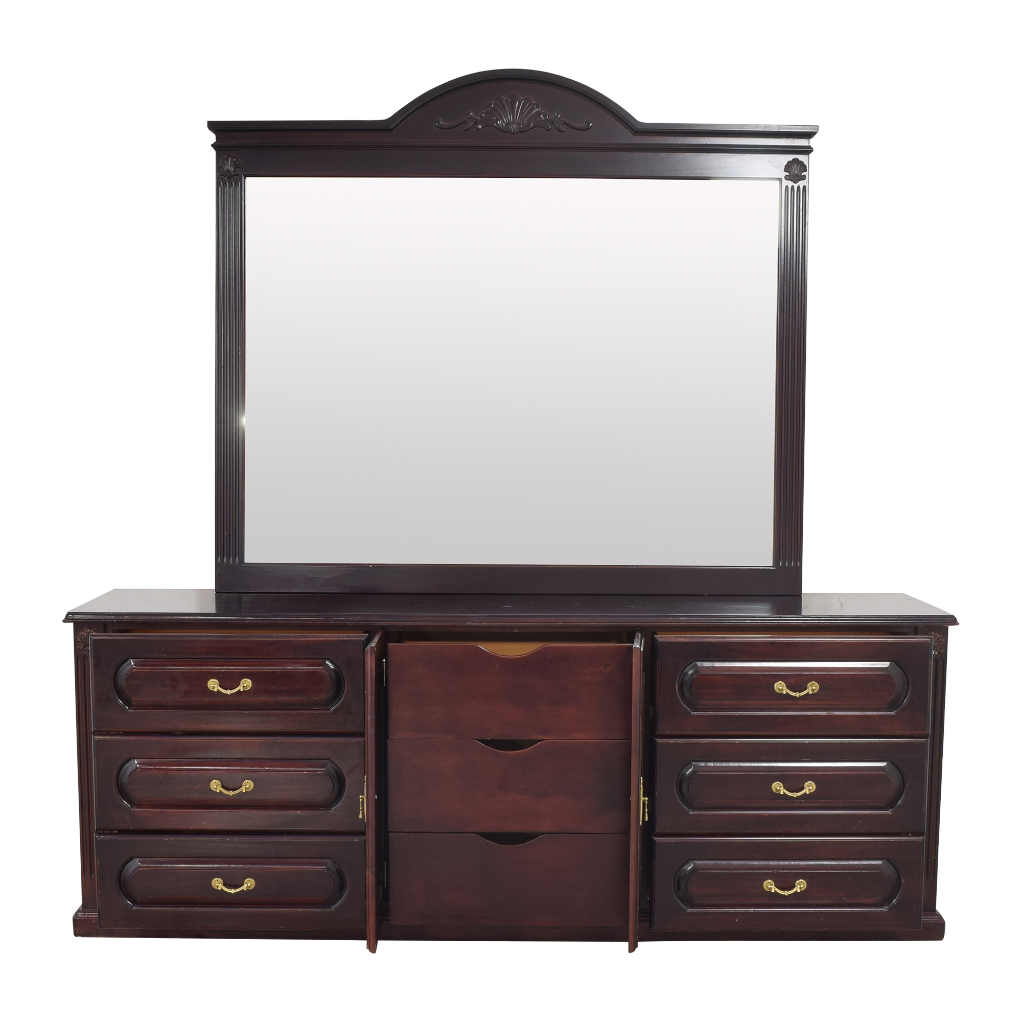 Triple Dresser with Mirror second hand