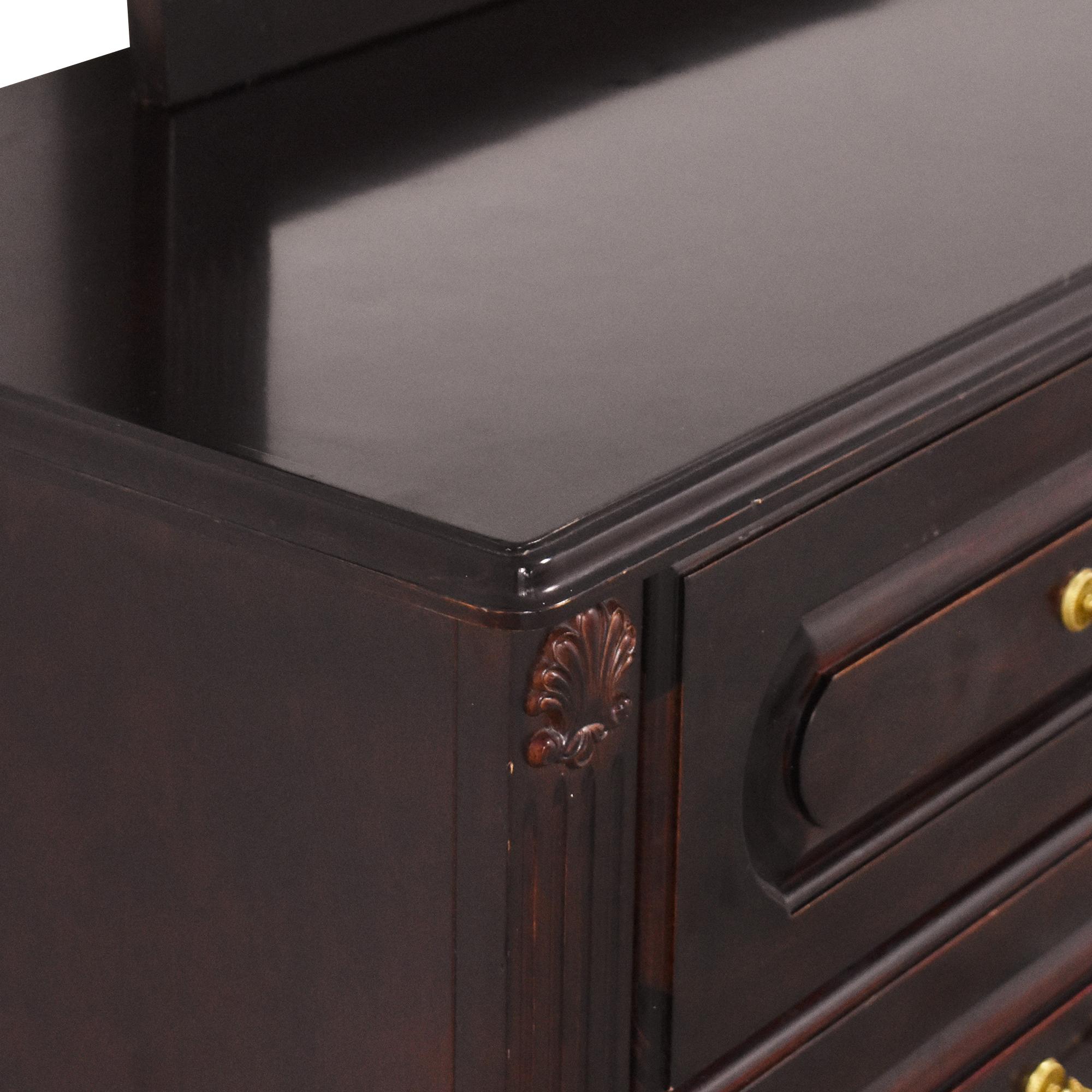 Triple Dresser with Mirror Storage