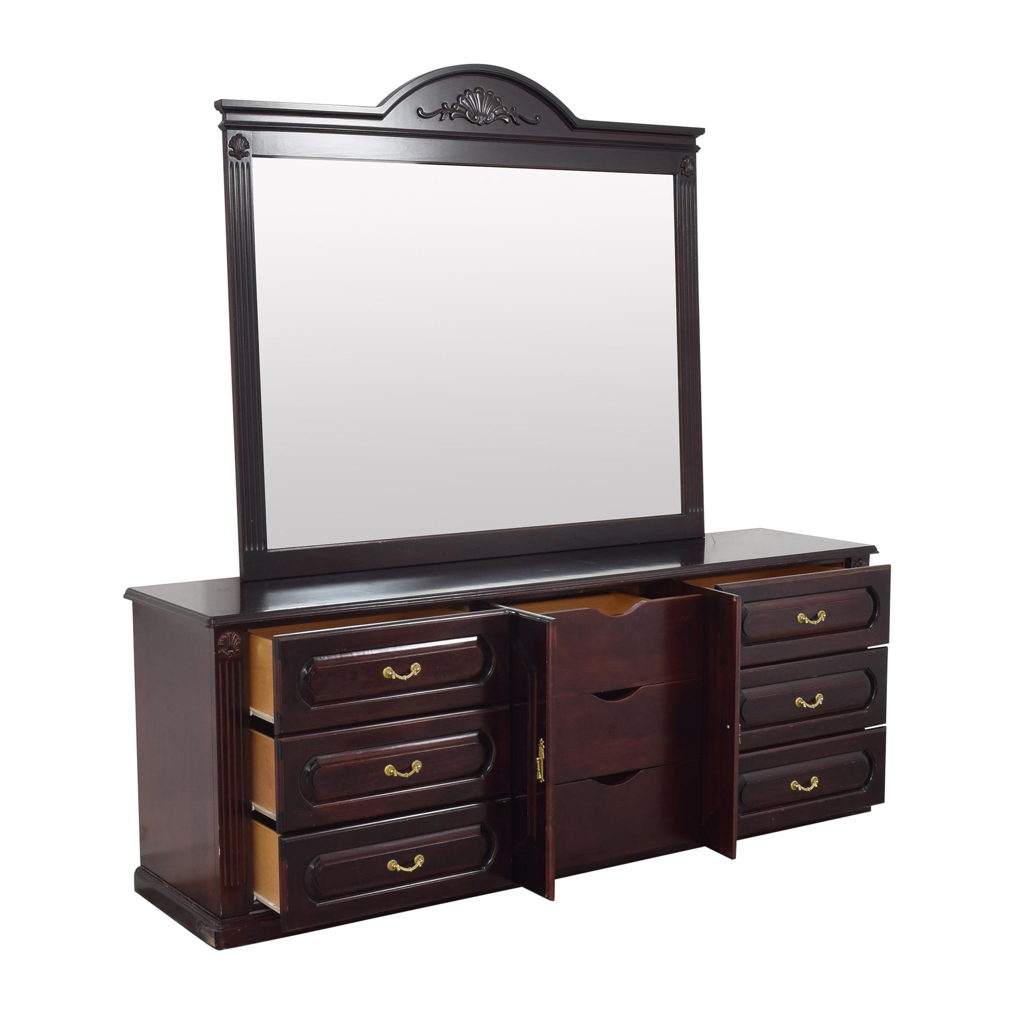 Triple Dresser with Mirror discount