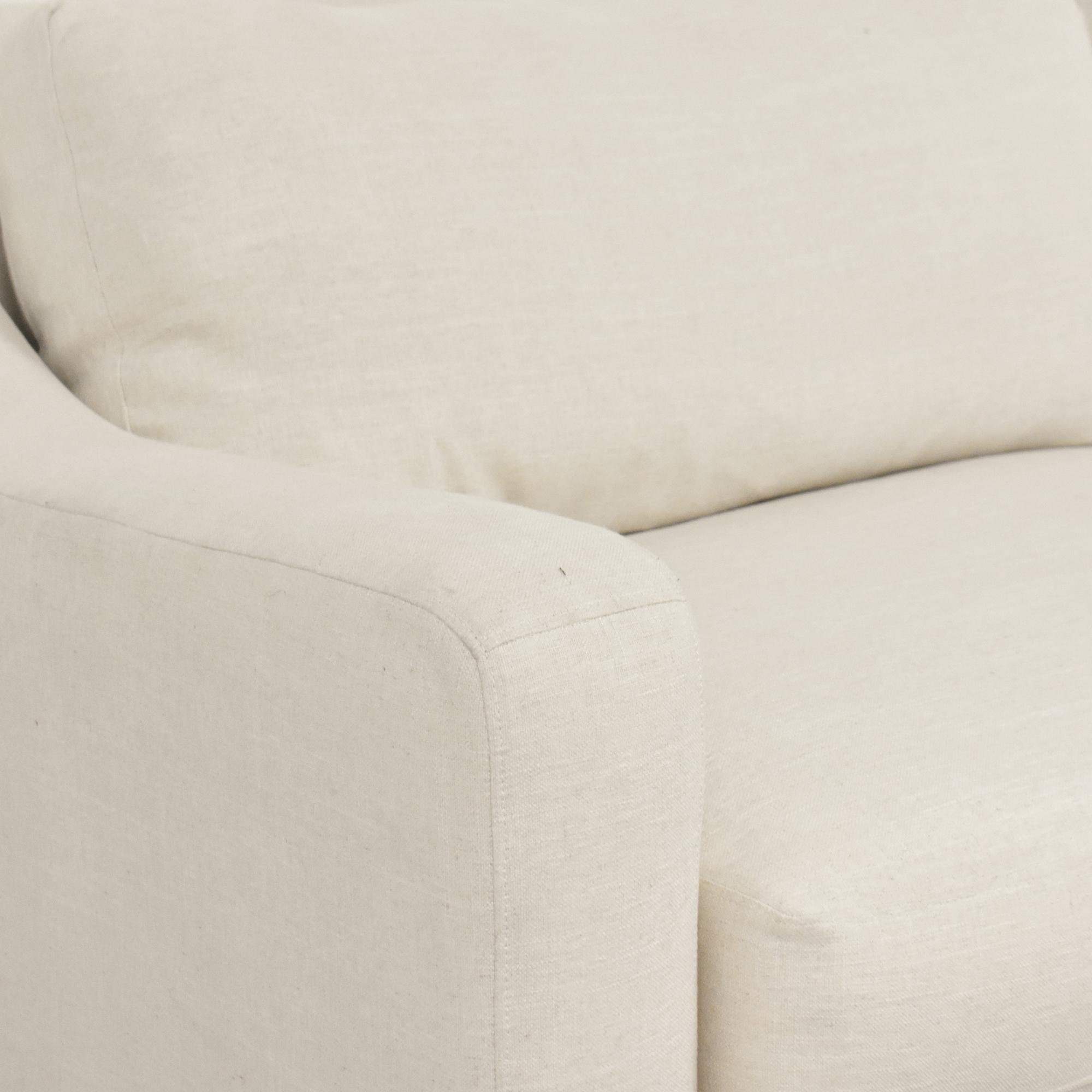Aria Designs Aria Designs Two Cushion Sofa White
