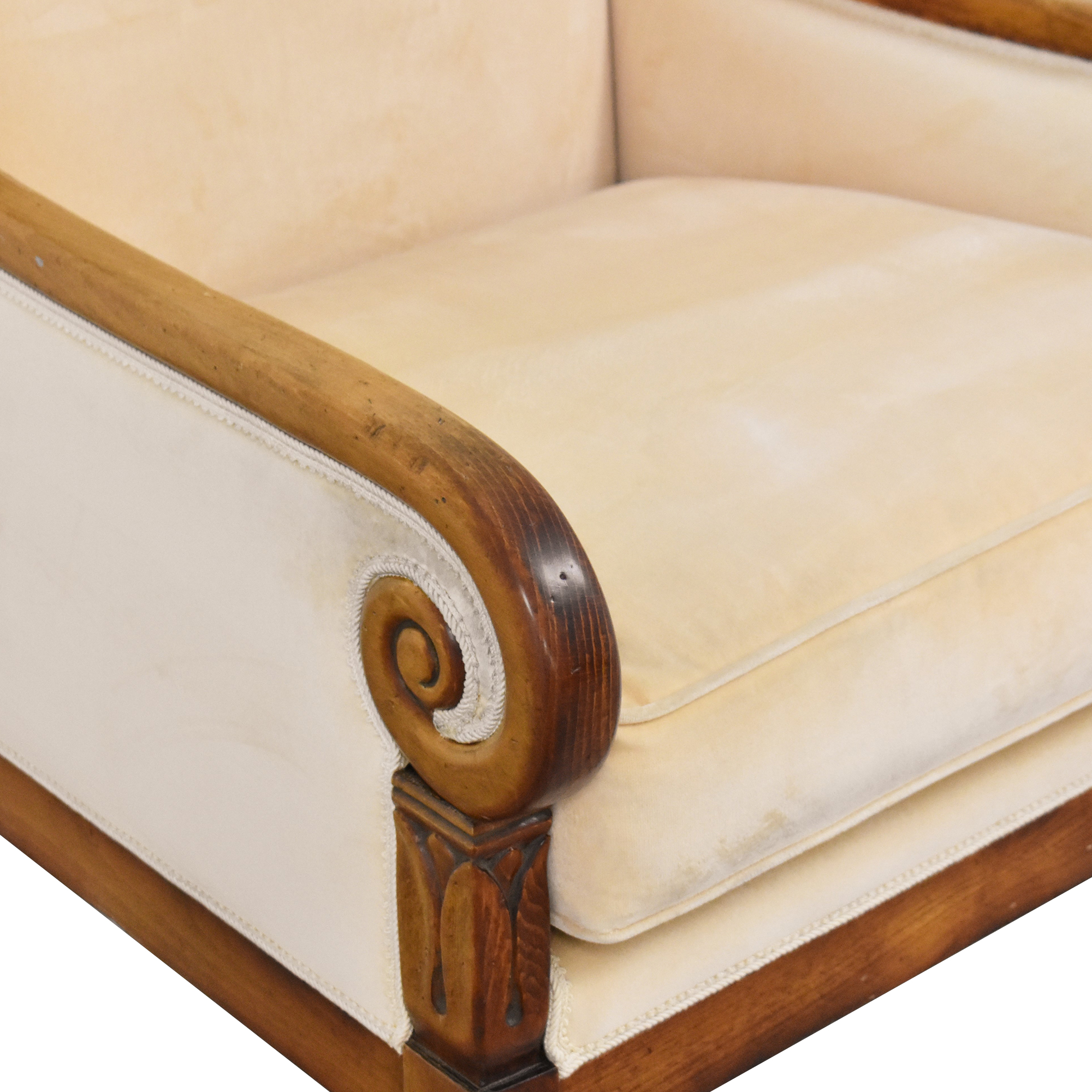 Italian Accent Chair cream and brown