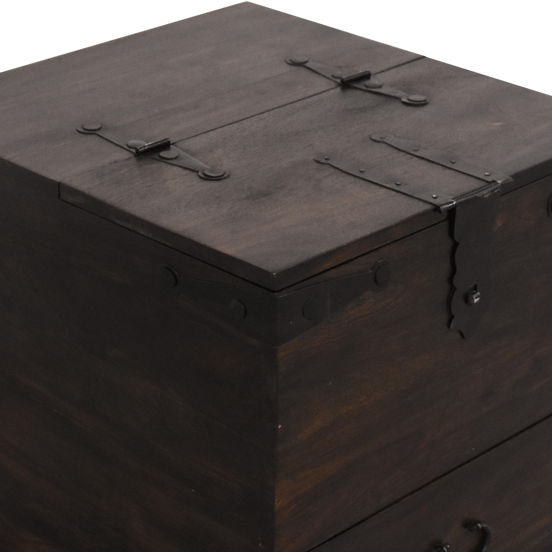 Crate & Barrel Crate & Barrel Taka Side Table dark brown